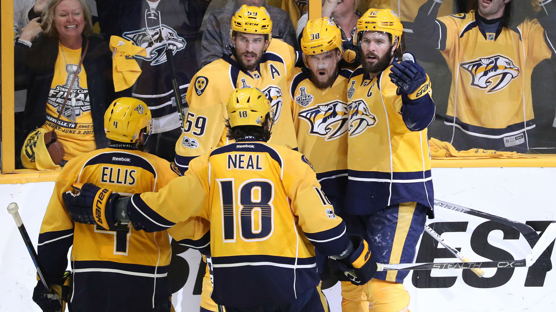 Nashville Predators NHL Mini Schläger Fanartikel Weitere Wintersportarten