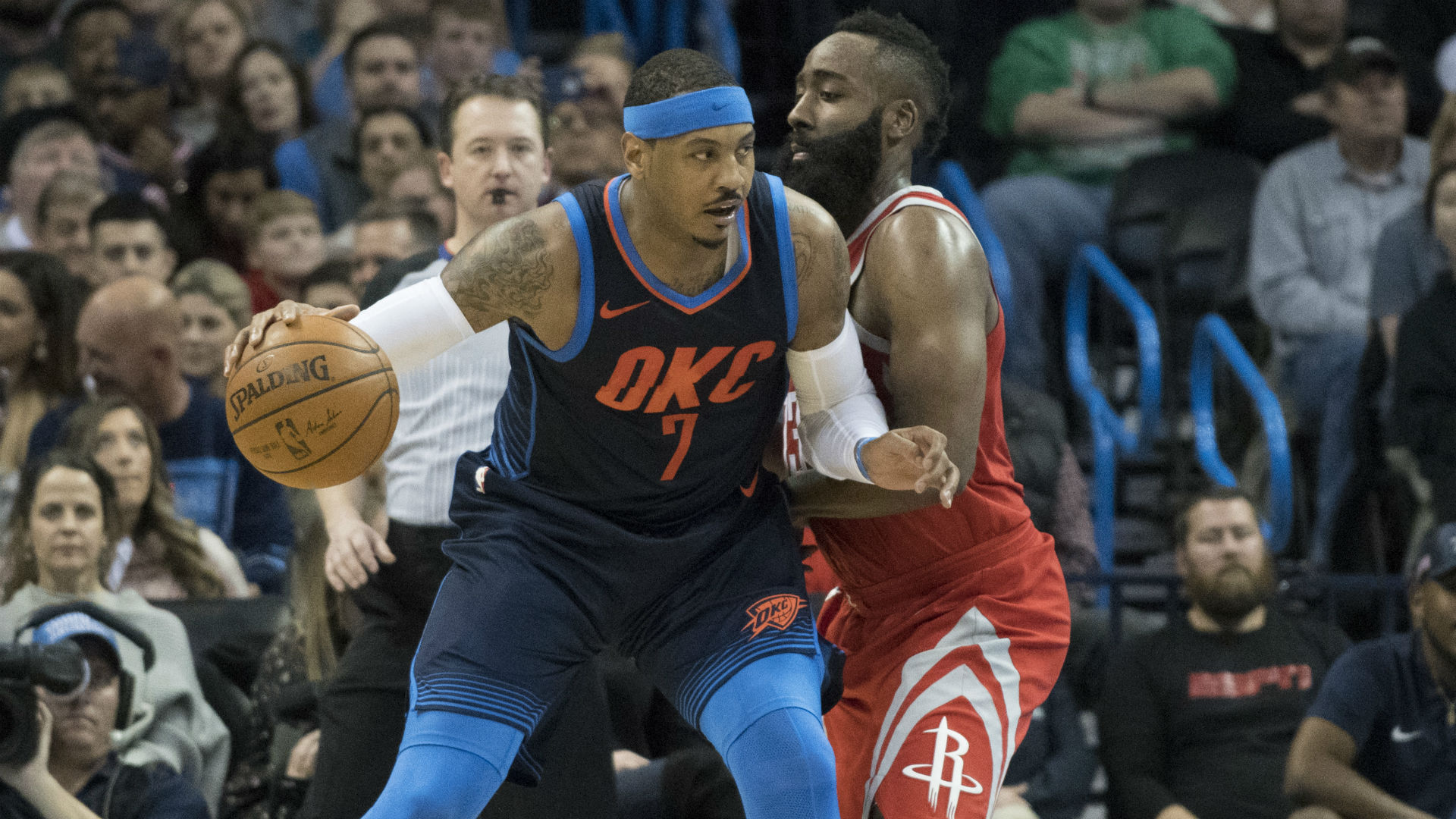 Harden says Carmelo will 'be a good fit' for Rockets