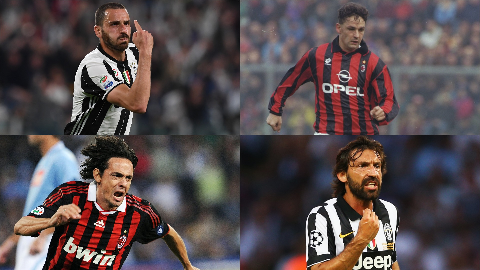 Pirlo Baggio Inzaghi – The Best XI To Play For Juventus