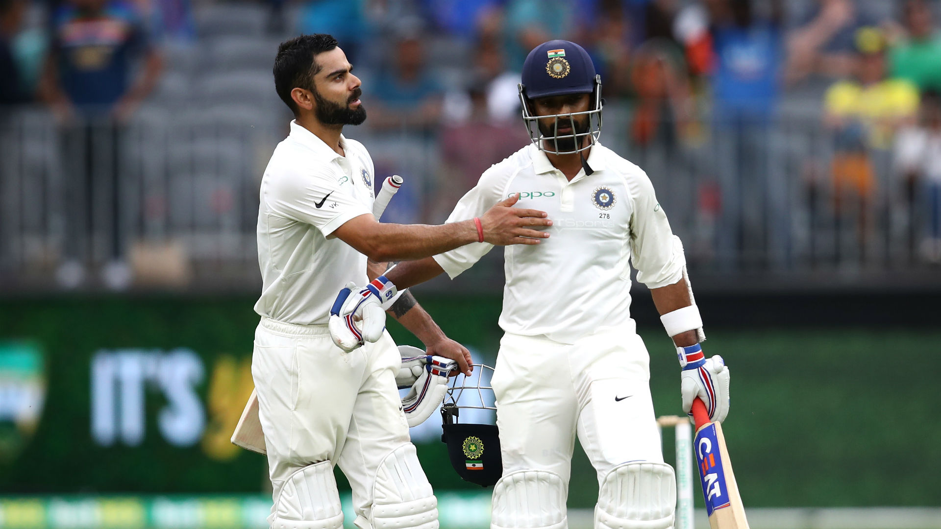 Kohli and Rahane combine to thwart Australia in Perth