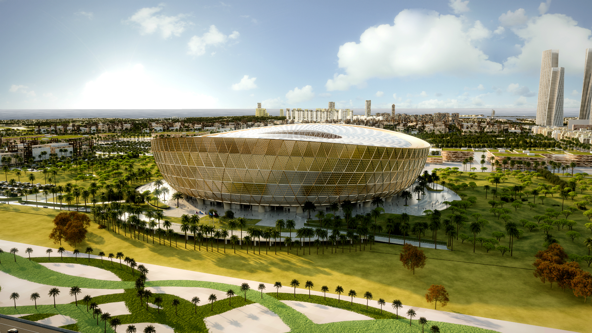 Qatar unveils Lusail Stadium for 2022 World Cup