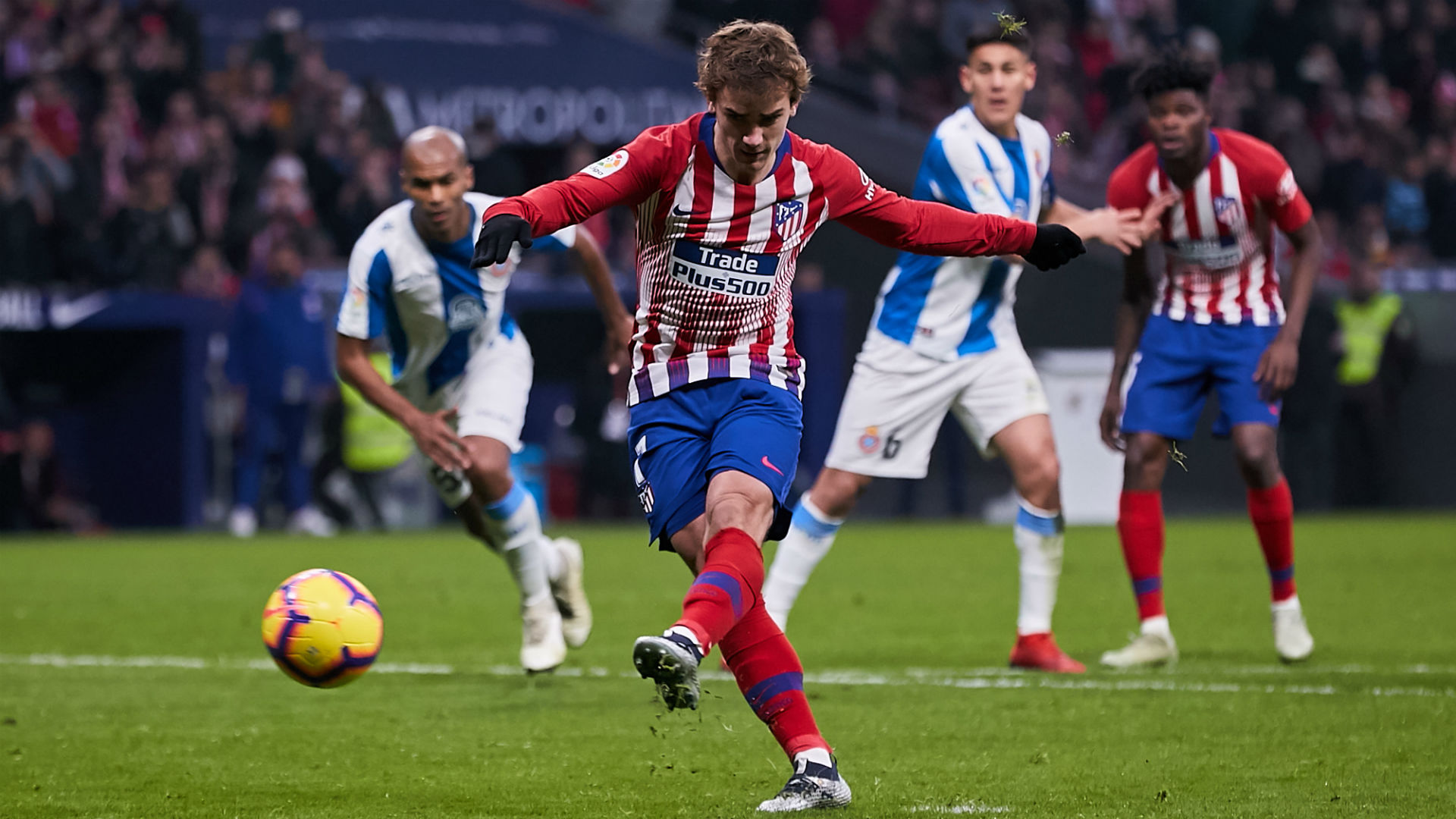 Atletico Madrid 1 Espanyol 0: Griezmann's 200th career goal moves hosts back up to second