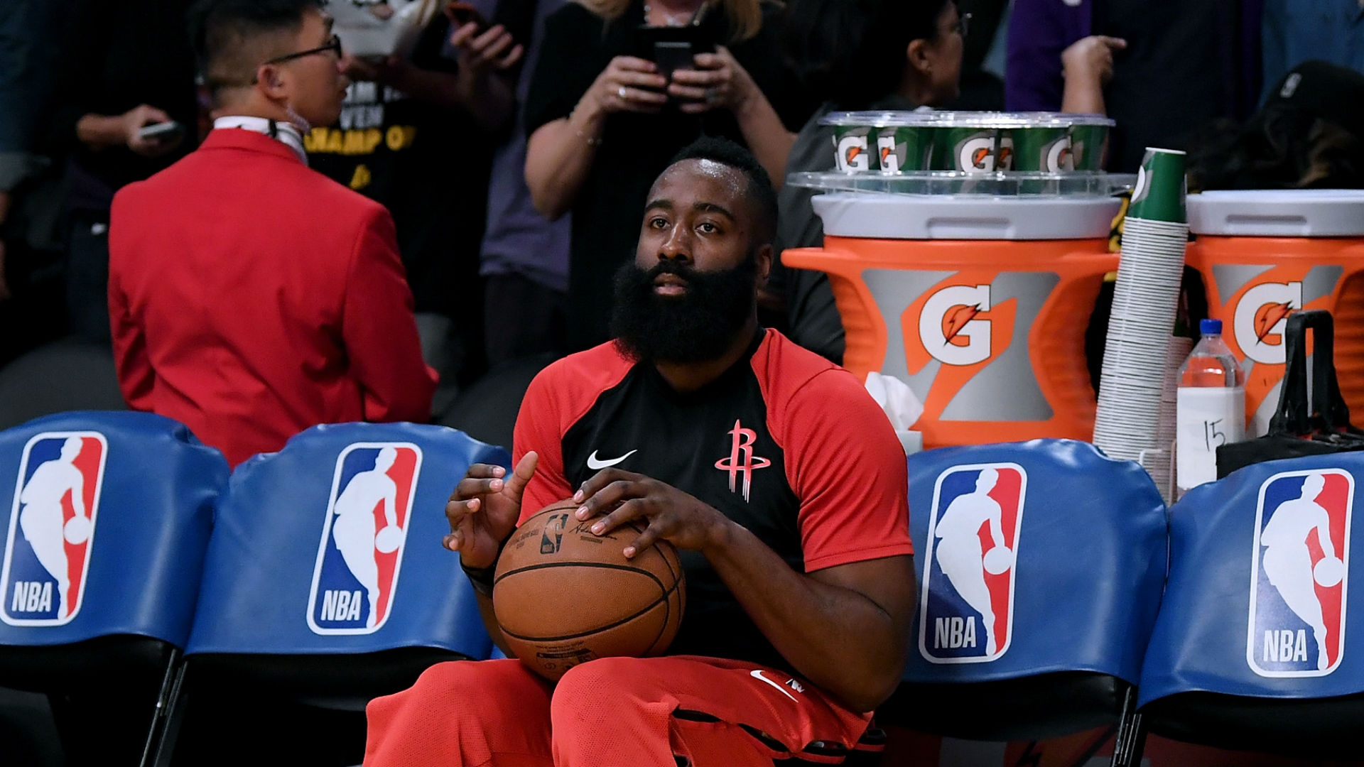 James Harden 'not concerned at all' by Rockets' collapse