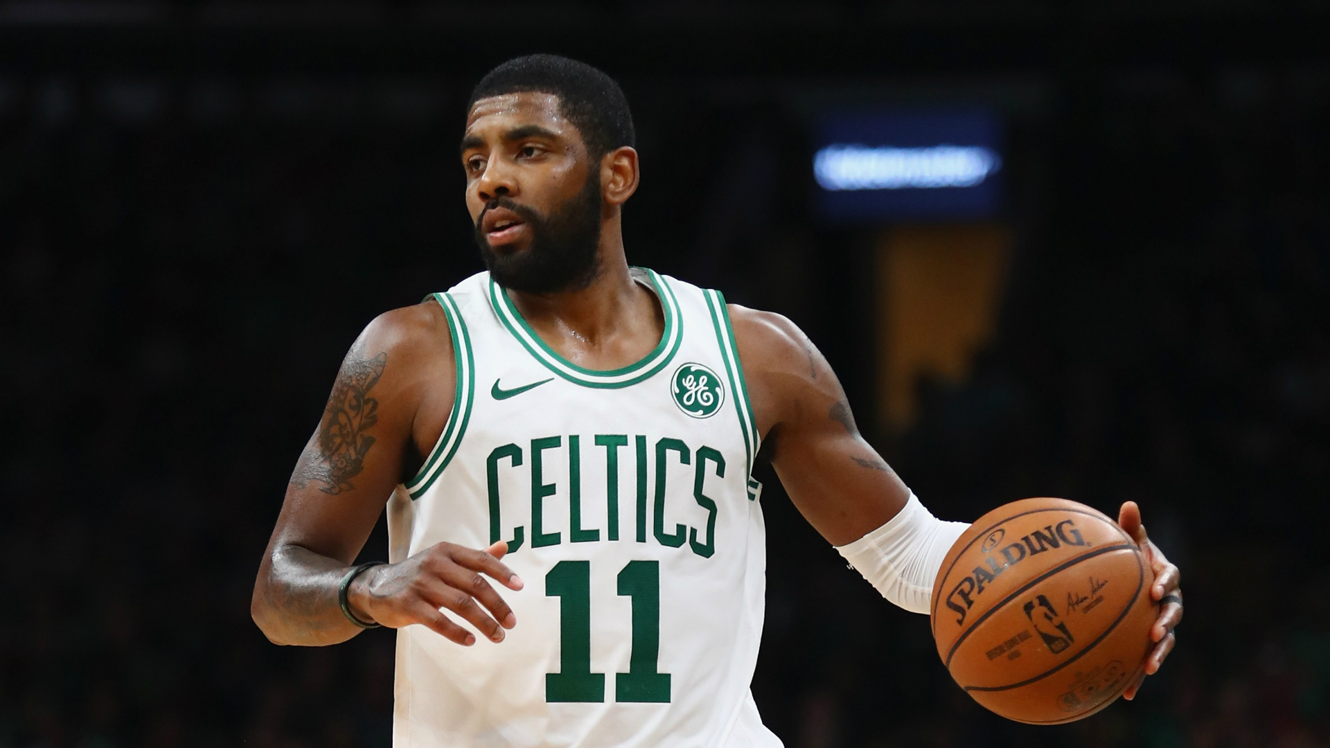 Kyrie Irving injury update: Celtics guard says shoulder will be fine after leaving Knicks game early