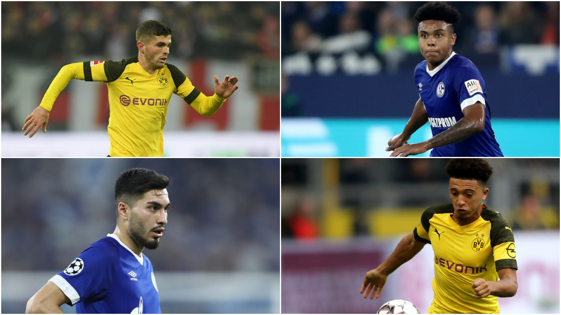 Schalke v Borussia Dortmund: Sancho, Harit, Pulisic and the Revierderby's other young stars