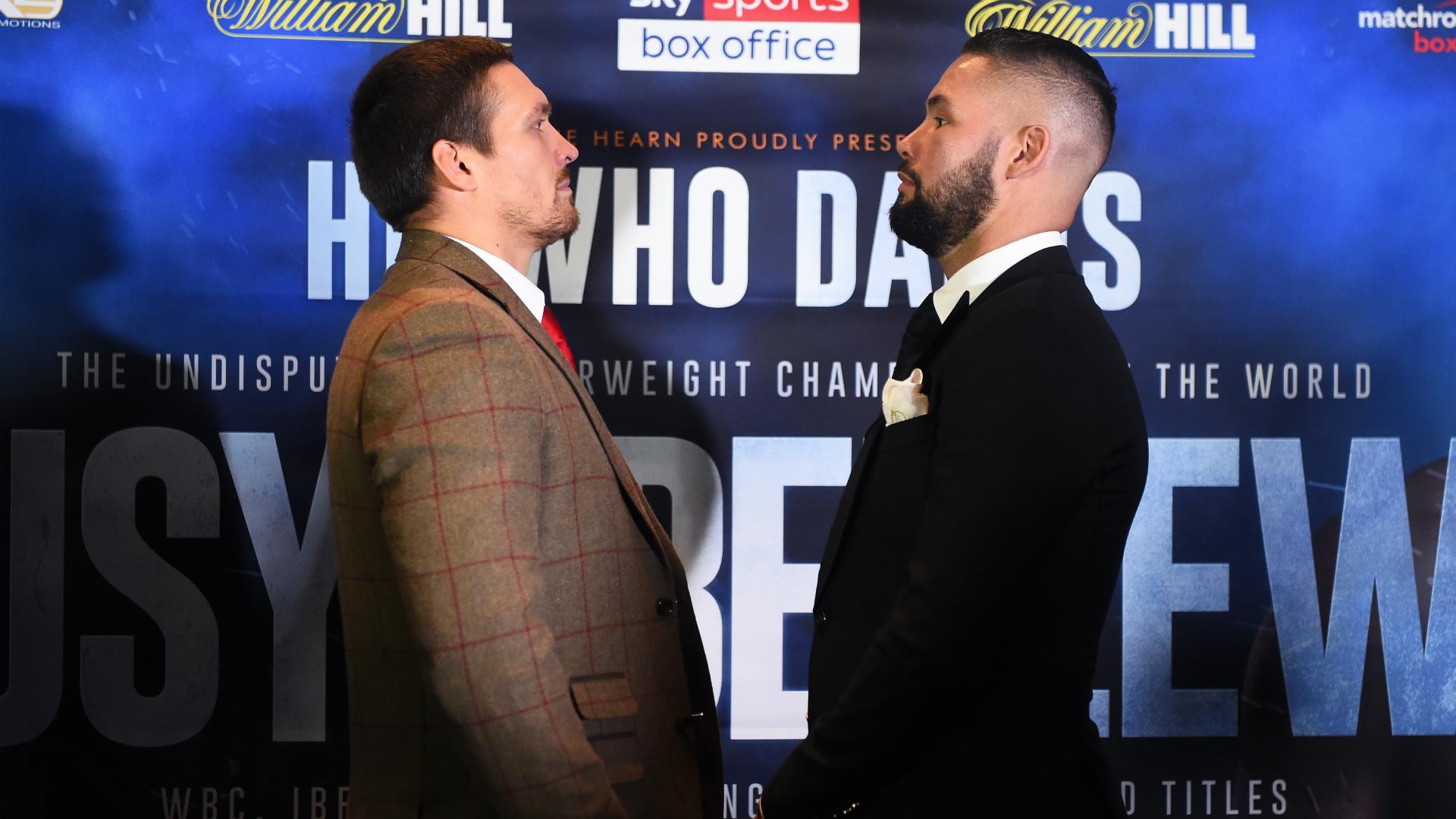Oleksandr Usyk vs. Tony Bellew: Fighters make weight for cruiserweight 'war'