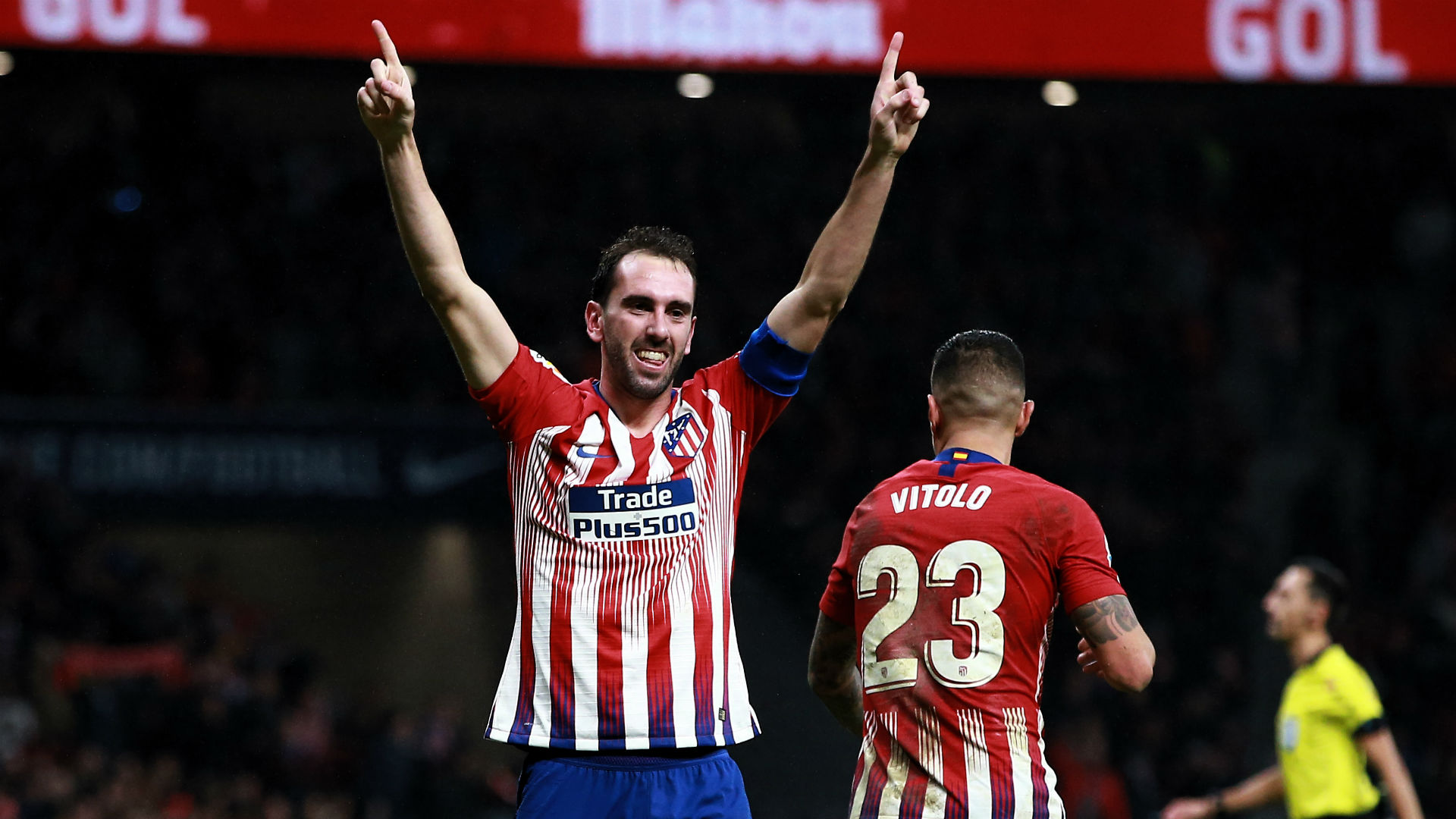 Simeone wanted me up front, reveals injured hero Godin