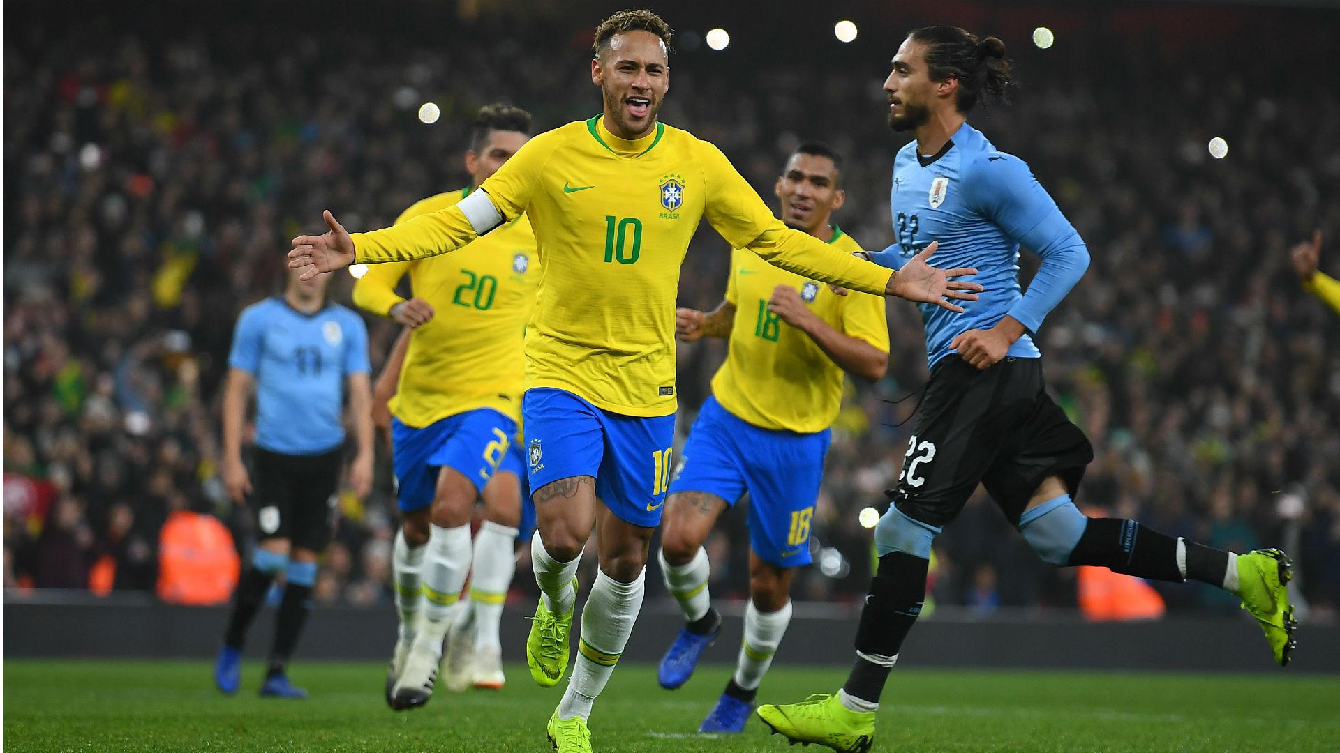 Brazil captain Neymar pleased with stern Uruguay test