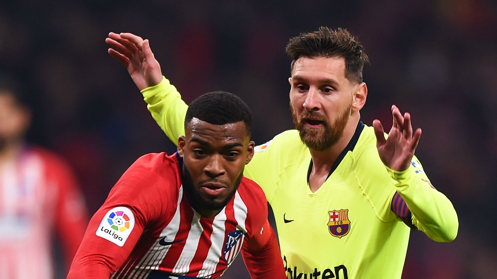 atletico madrid 1 barcelona 1 dembele earns point in top of the