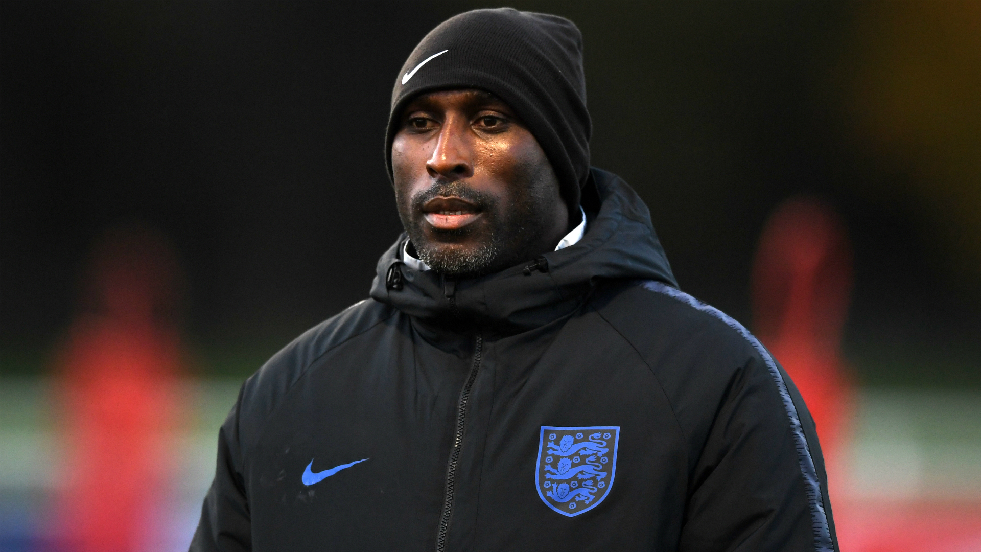 Sol Campbell arrives at Macclesfield for talks over manager's job