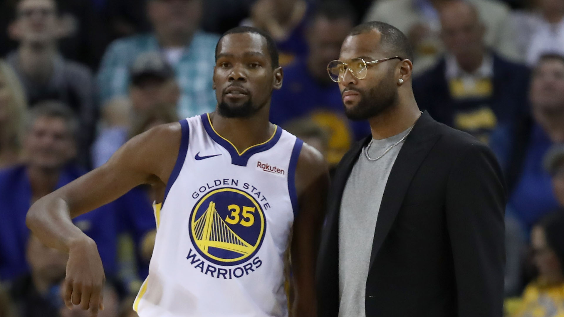 Cousins ejected while sitting on Warriors bench vs Knicks