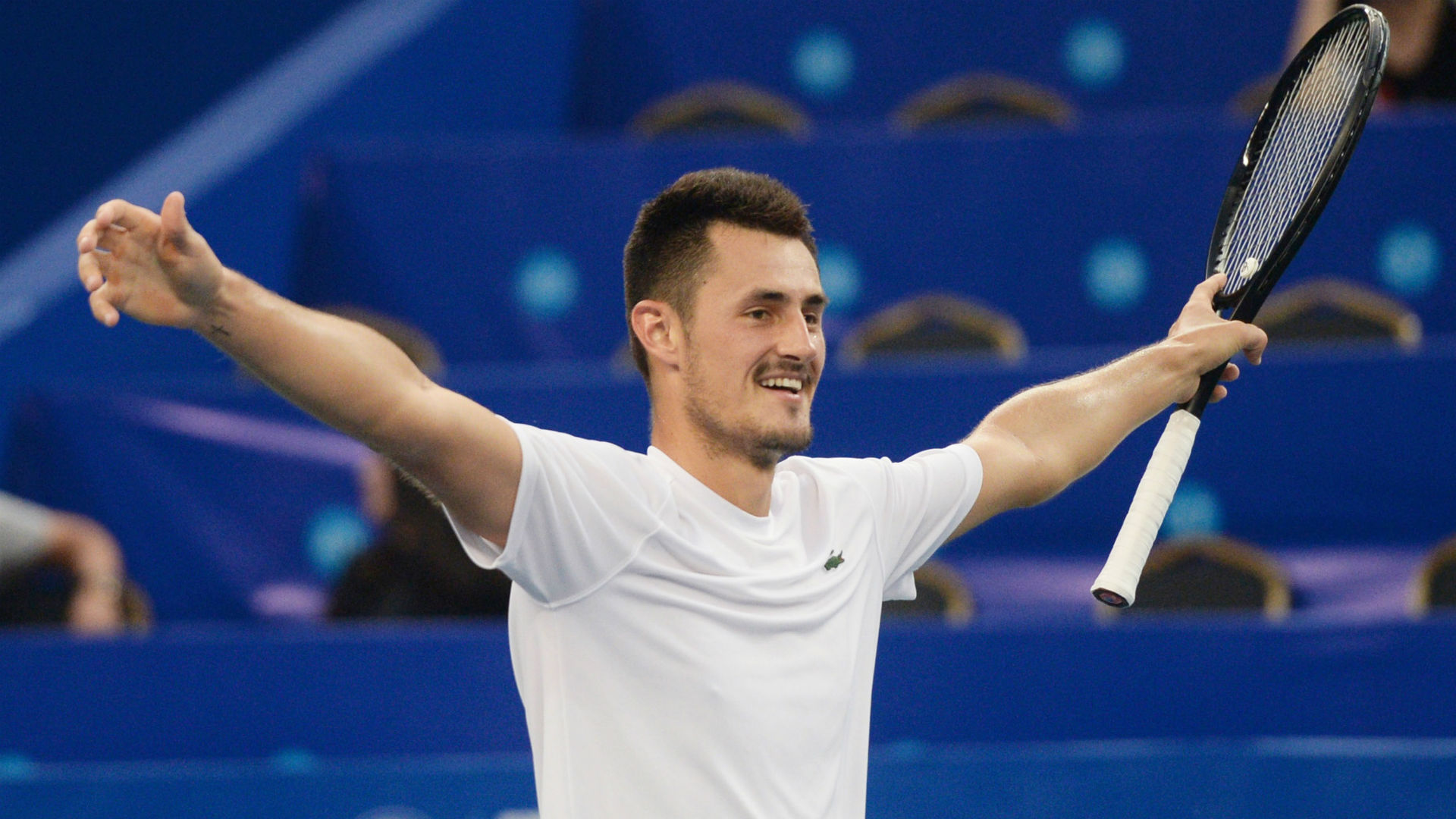 Tomic Staves Off Four Match Points Ends Title Drought In Chengdu
