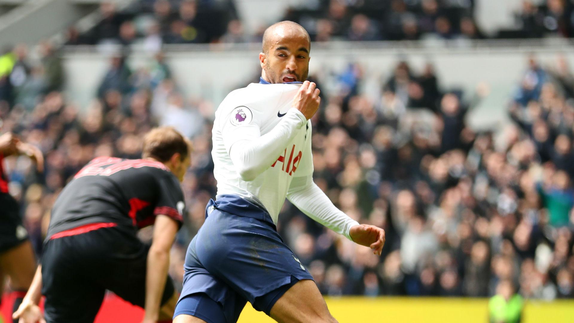 Tottenham 4 Huddersfield Town 0: Lucas hat-trick fires Spurs up to third
