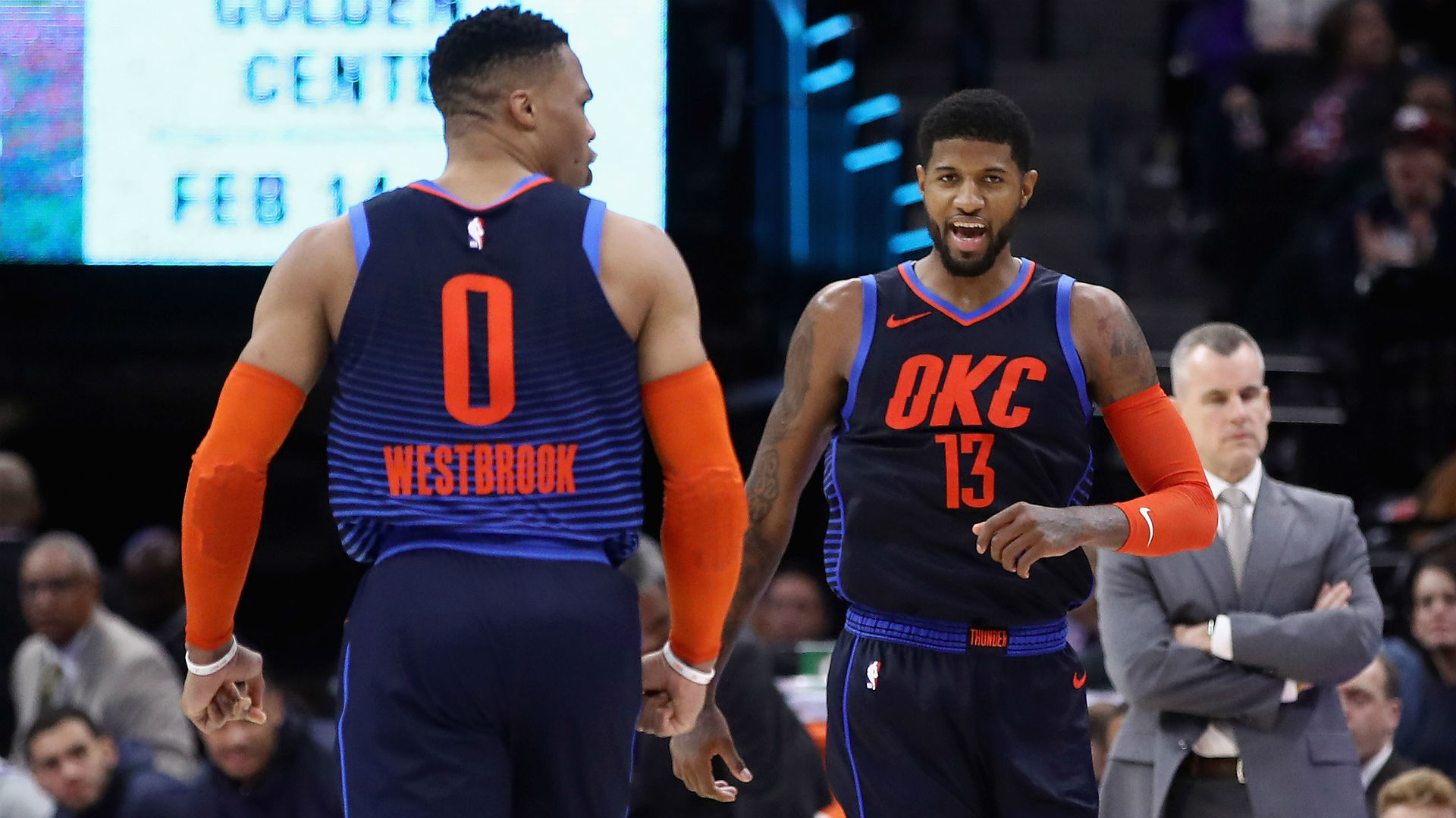 Thunder Star Paul George Day To Day For Blazers Series