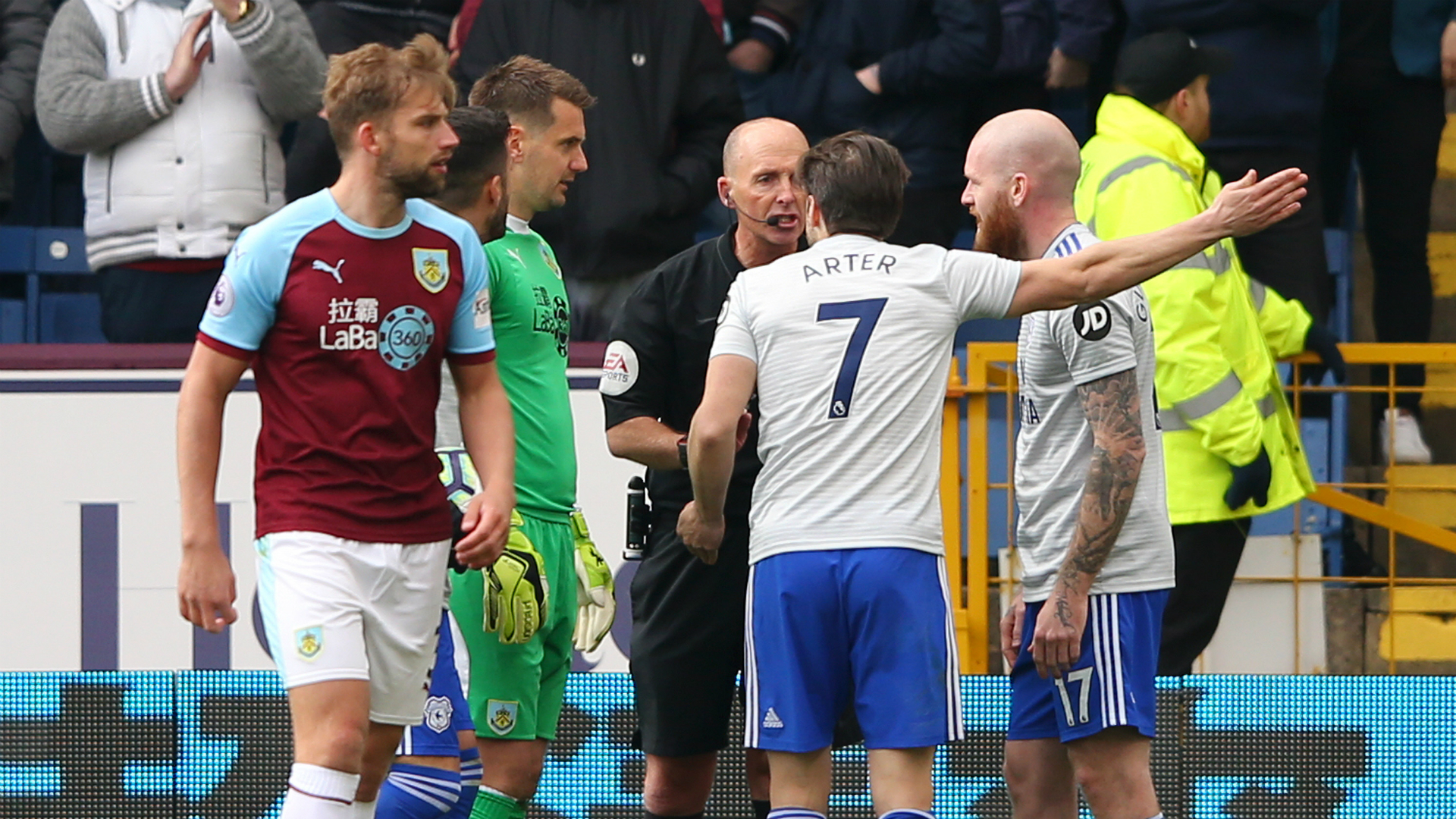 There were two handballs - Warnock annoyed by Dean decisions