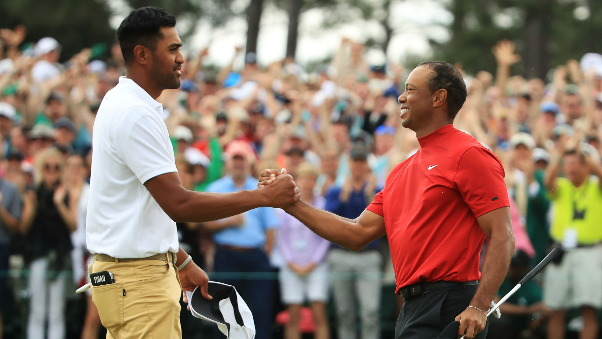 Finau plans to tell son: I was there for Woods' 15th major win