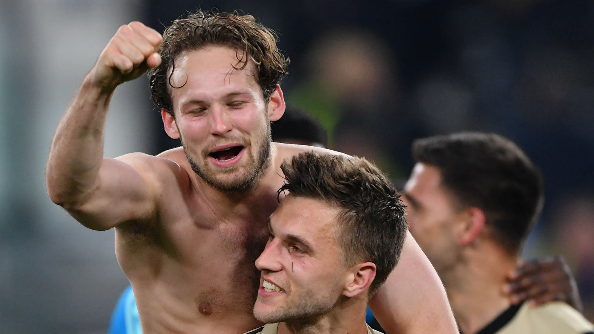 Ajax have to be careful with the beers after Juve triumph, jokes Blind