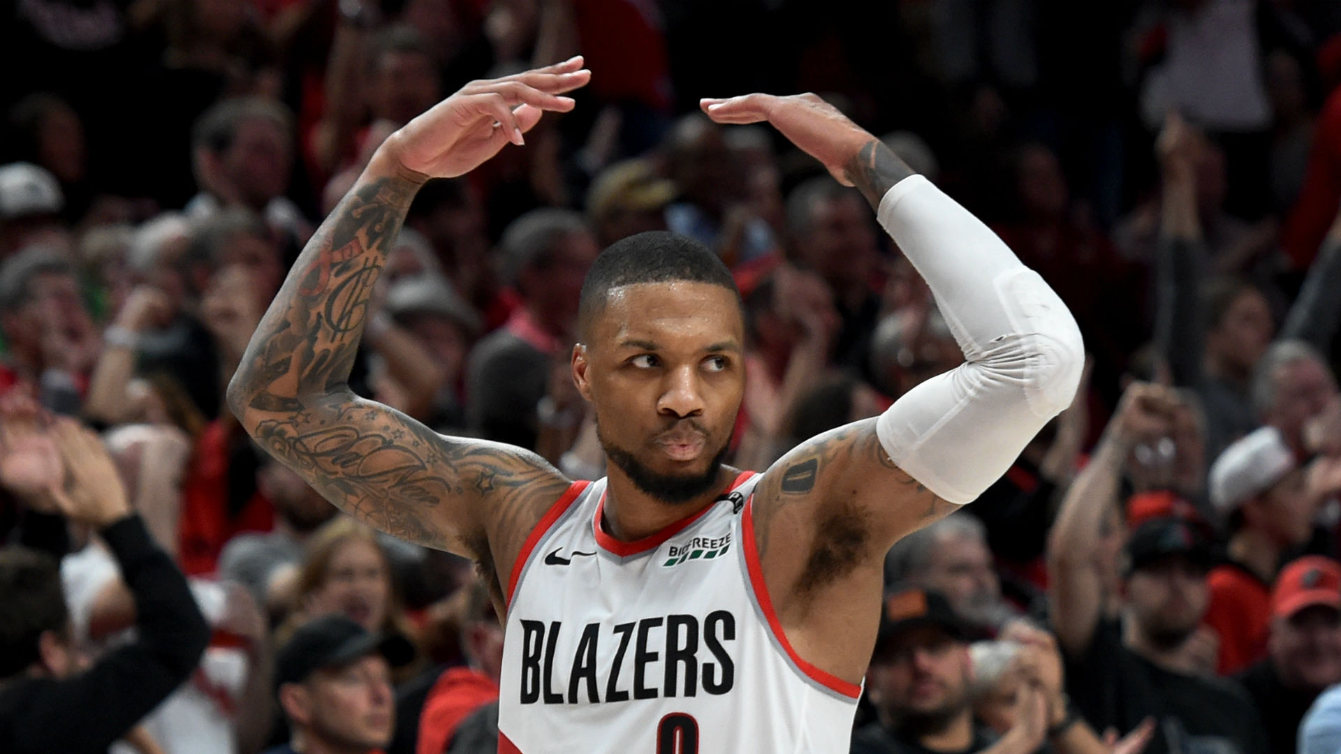 A series doesn't start until you win on the road, warns Lillard