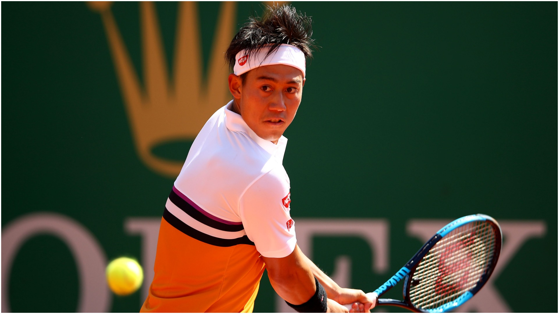 Nishikori unable to join Nadal with Monte Carlo progress