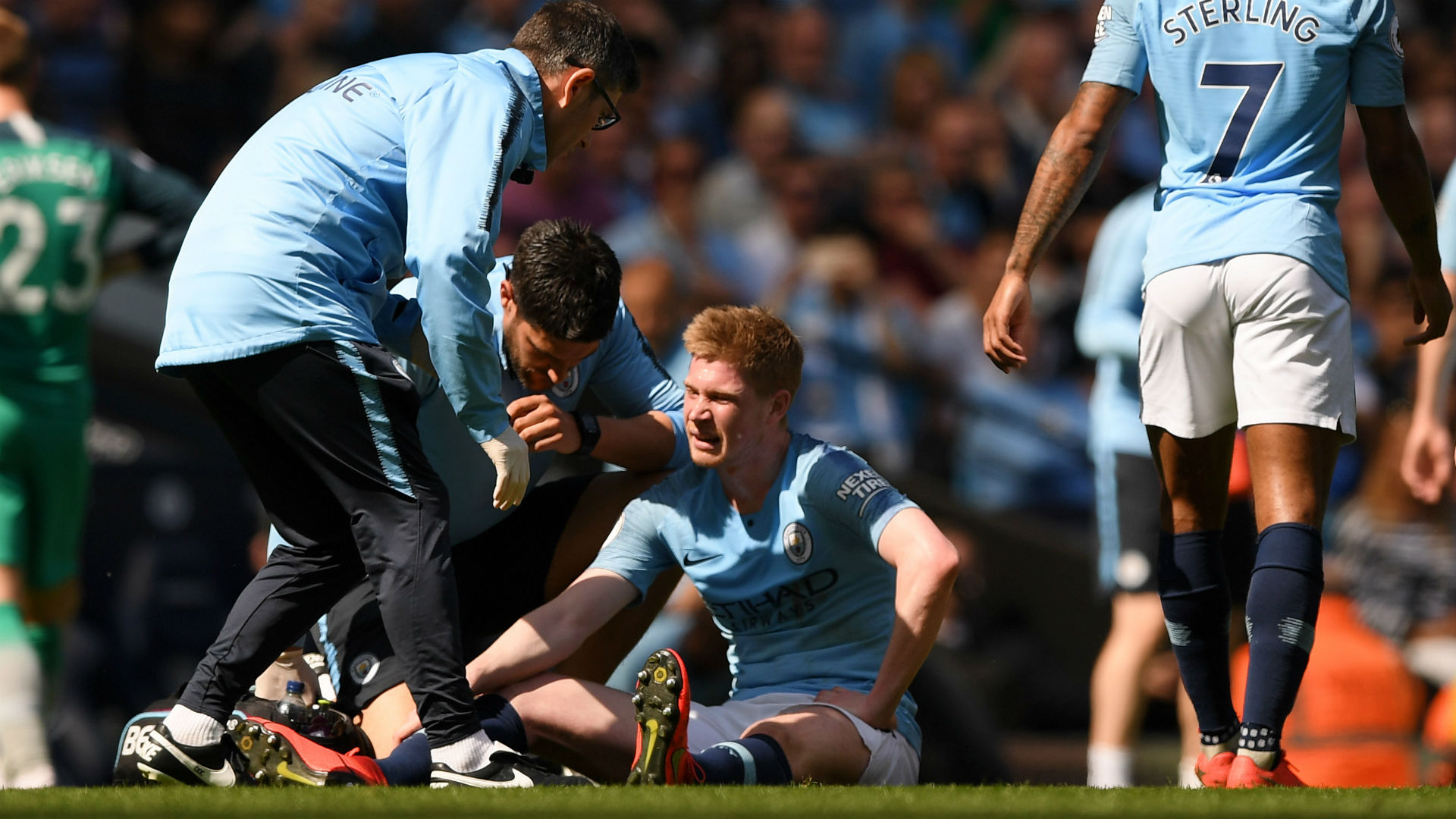 Guardiola suggests De Bruyne's season could be over after Spurs injury