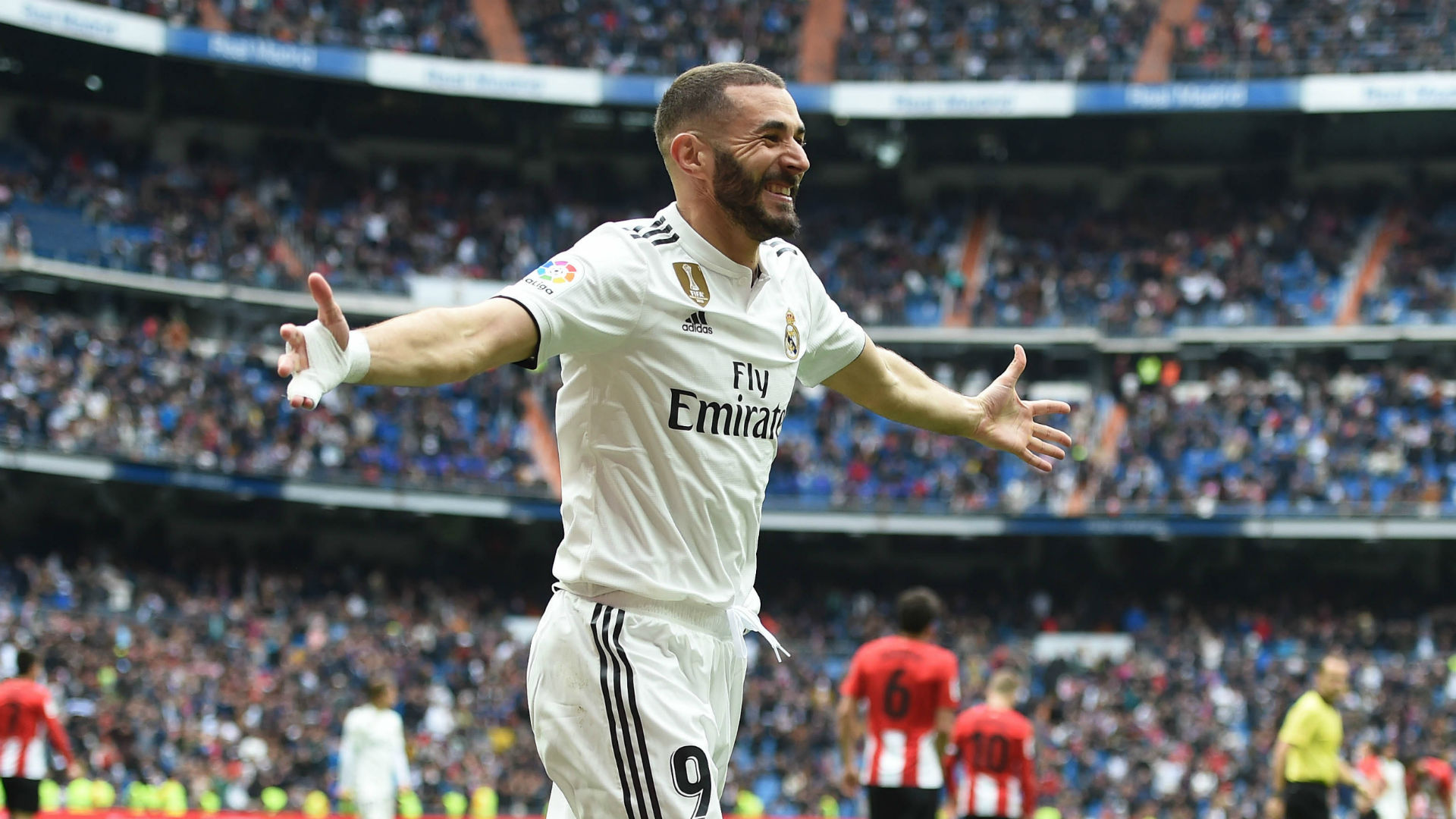 Real Madrid 3 Athletic Bilbao 0: Hat-trick hero Benzema scores for fifth game in a row to seal victory