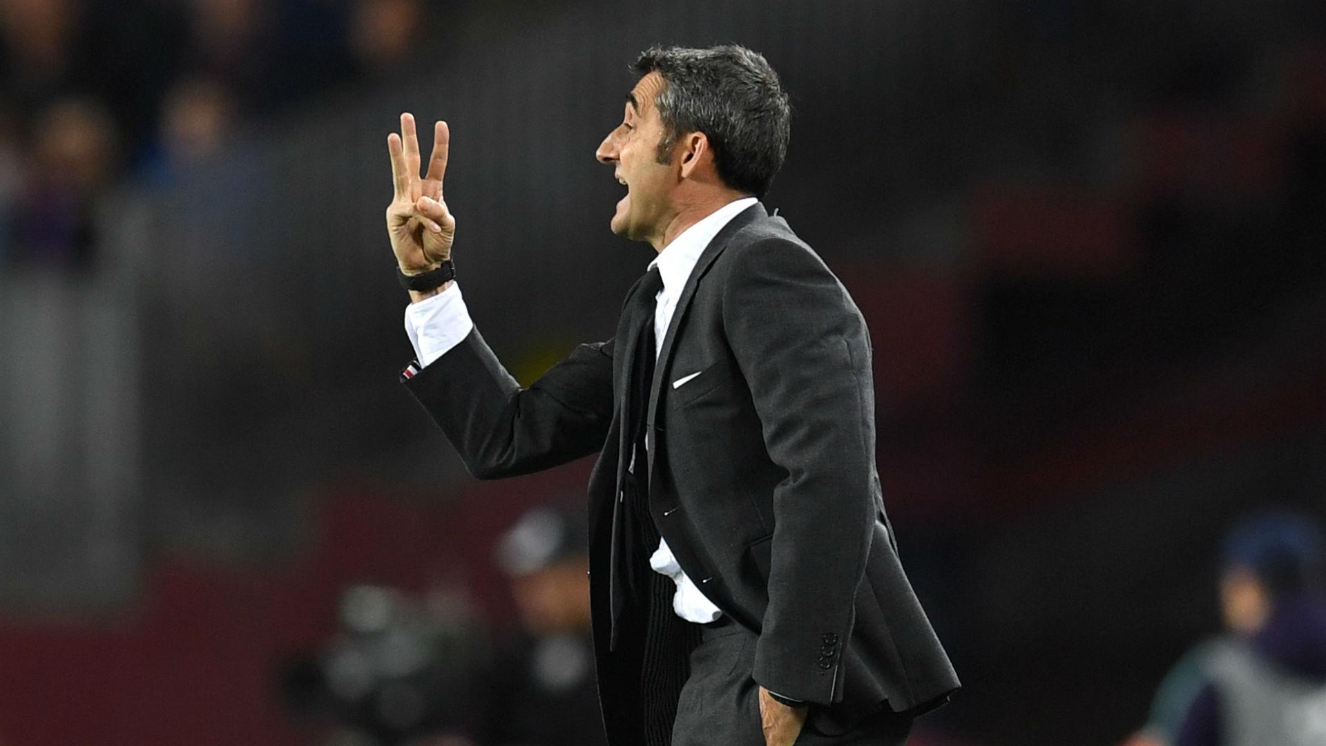Valverde urges treble focus after Barca's LaLiga triumph