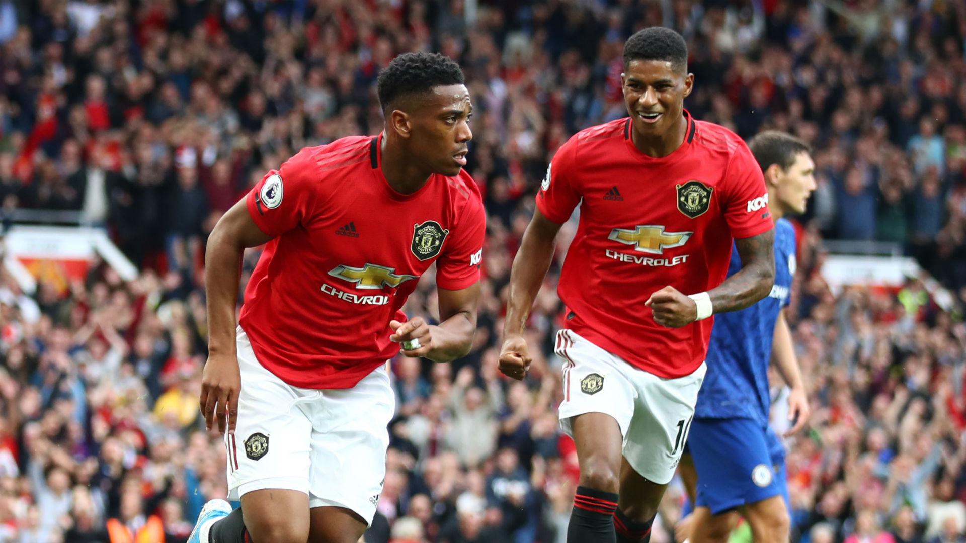 Manchester United 4 0 Chelsea Rashford Martial Star As