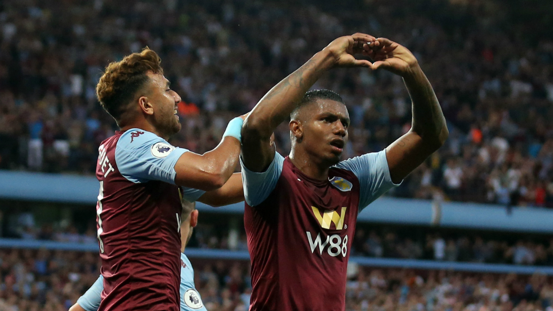 Aston Villa 2-0 Everton: Wesley stars as Smith's men earn first win