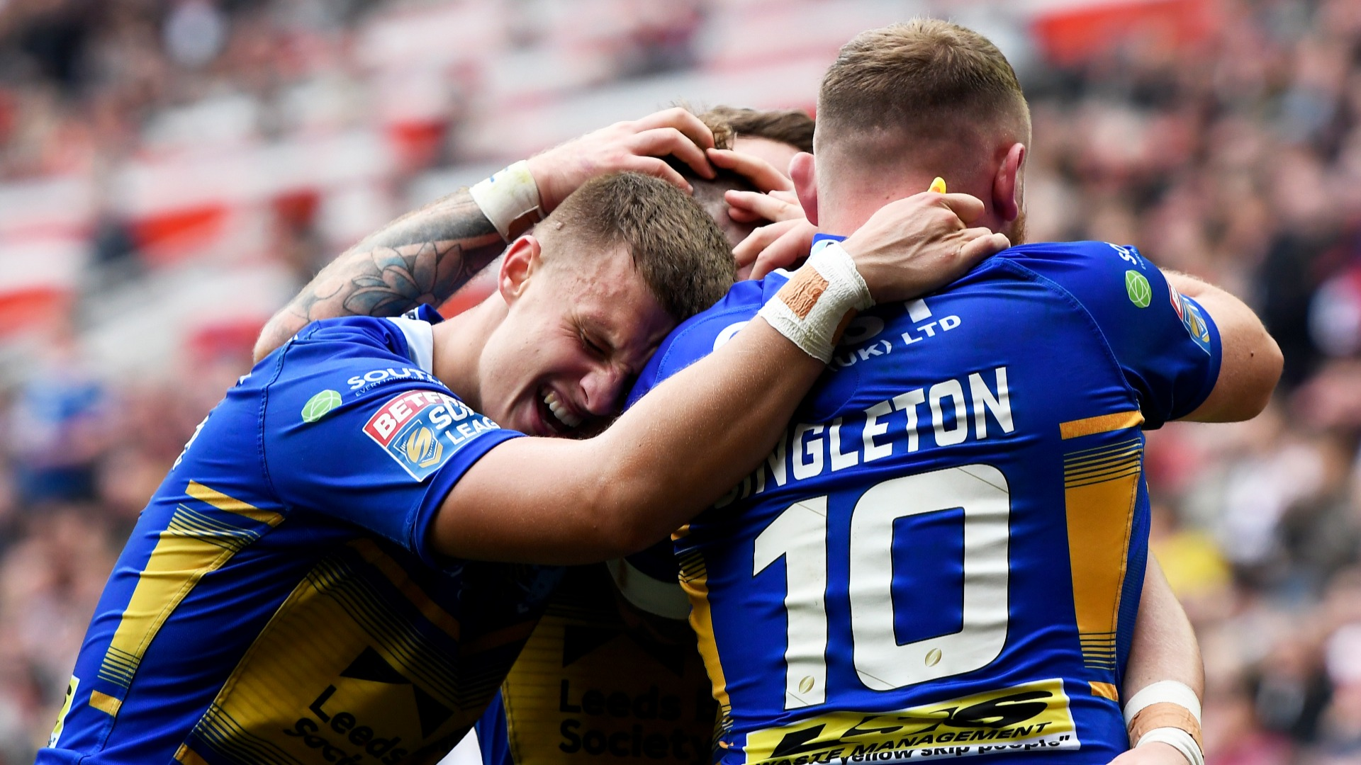 Hurrell and Handley doubles see Leeds rout Huddersfield