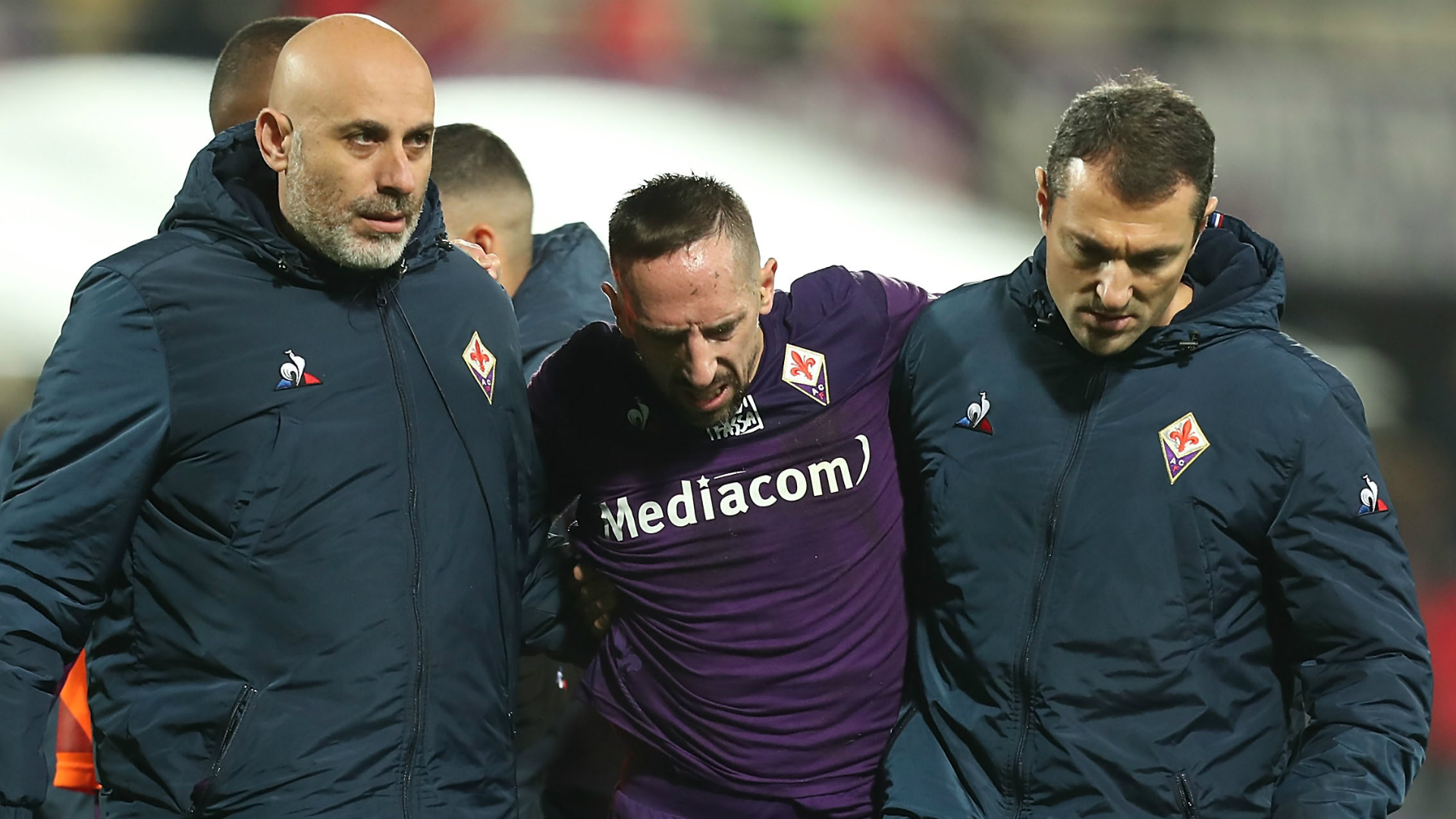 Fiorentina winger Ribery suffers ankle ligament injury