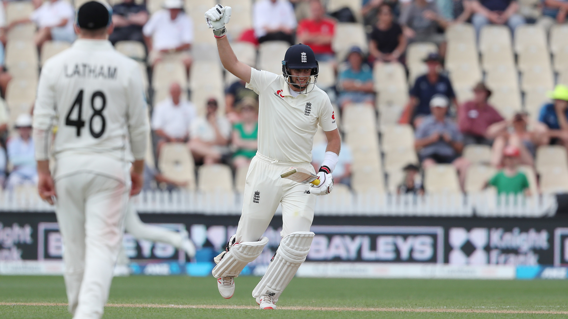 Root leads England response with century