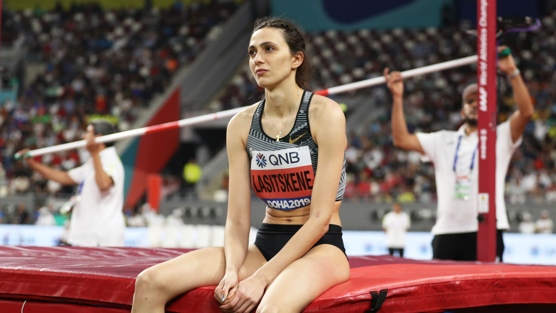 Lasitskene hits out at Russian athletics authorities over WADA ban