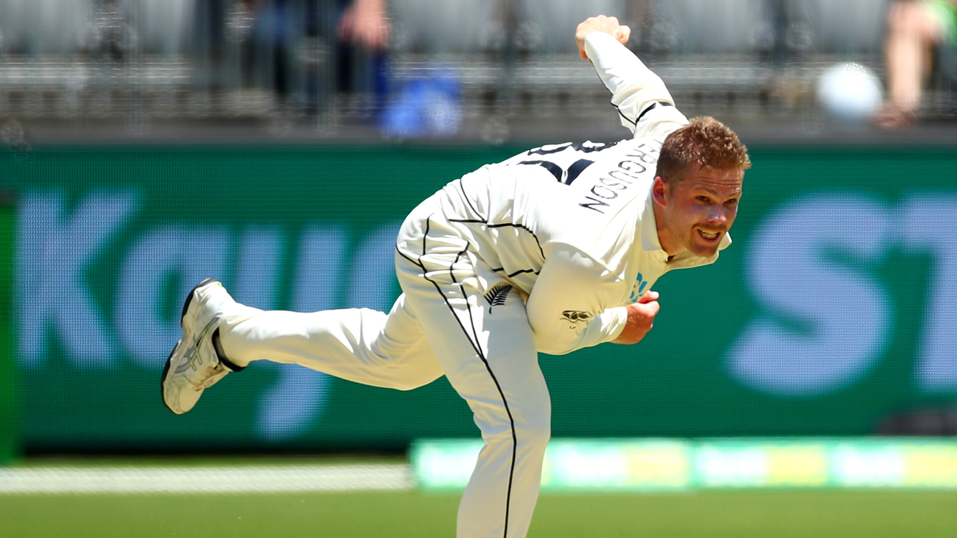 Ferguson won't bowl for rest of first Test due to calf strain