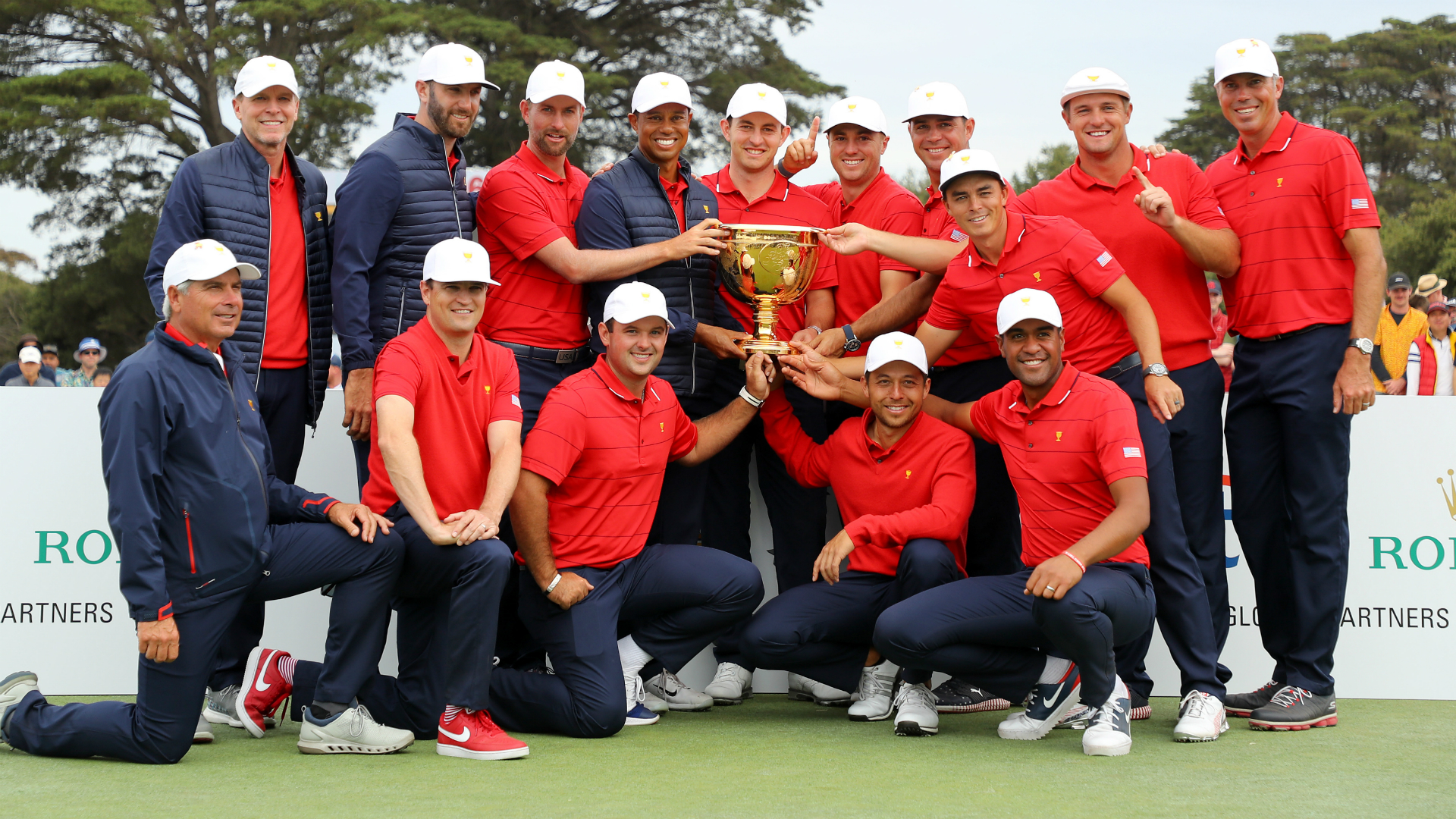 Presidents Cup 2019: Star-struck USA team shower winning captain Tiger Woods in praise