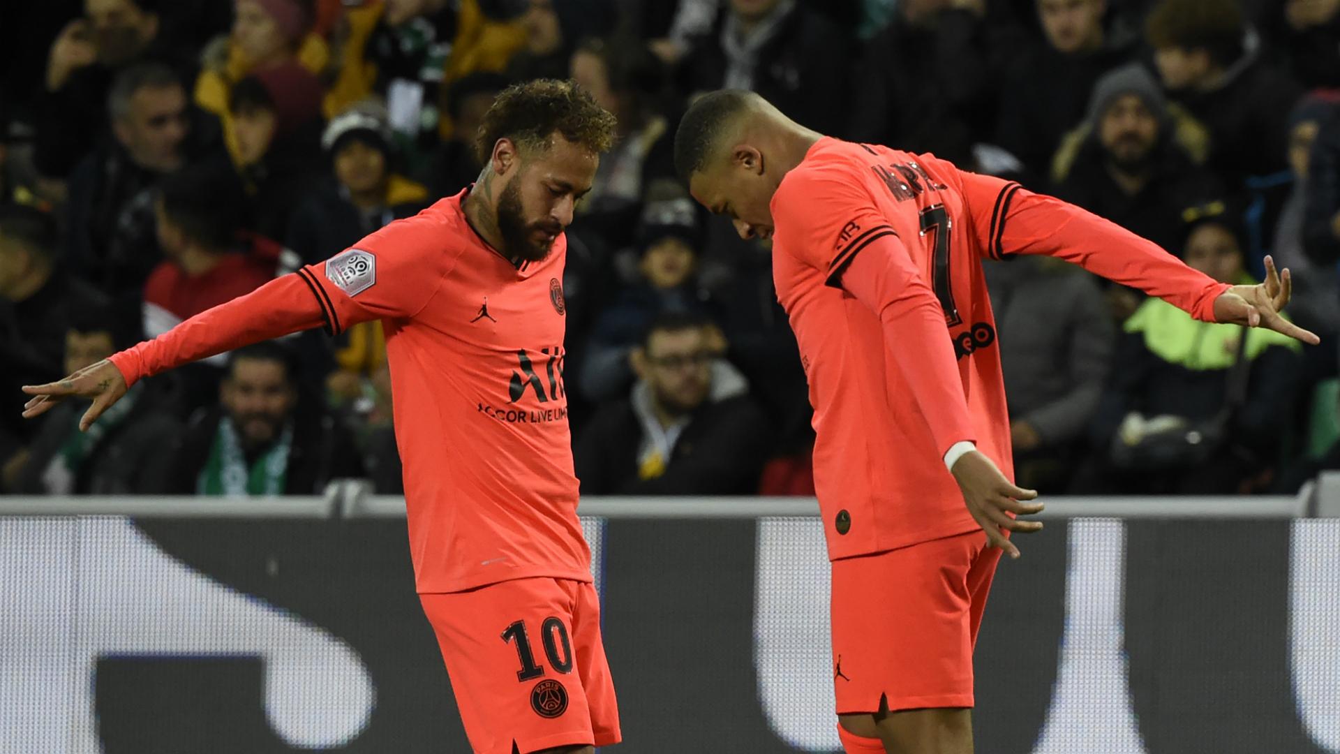 Saint-Etienne 0-4 Paris Saint-Germain: Mbappe double sends champions seven points clear