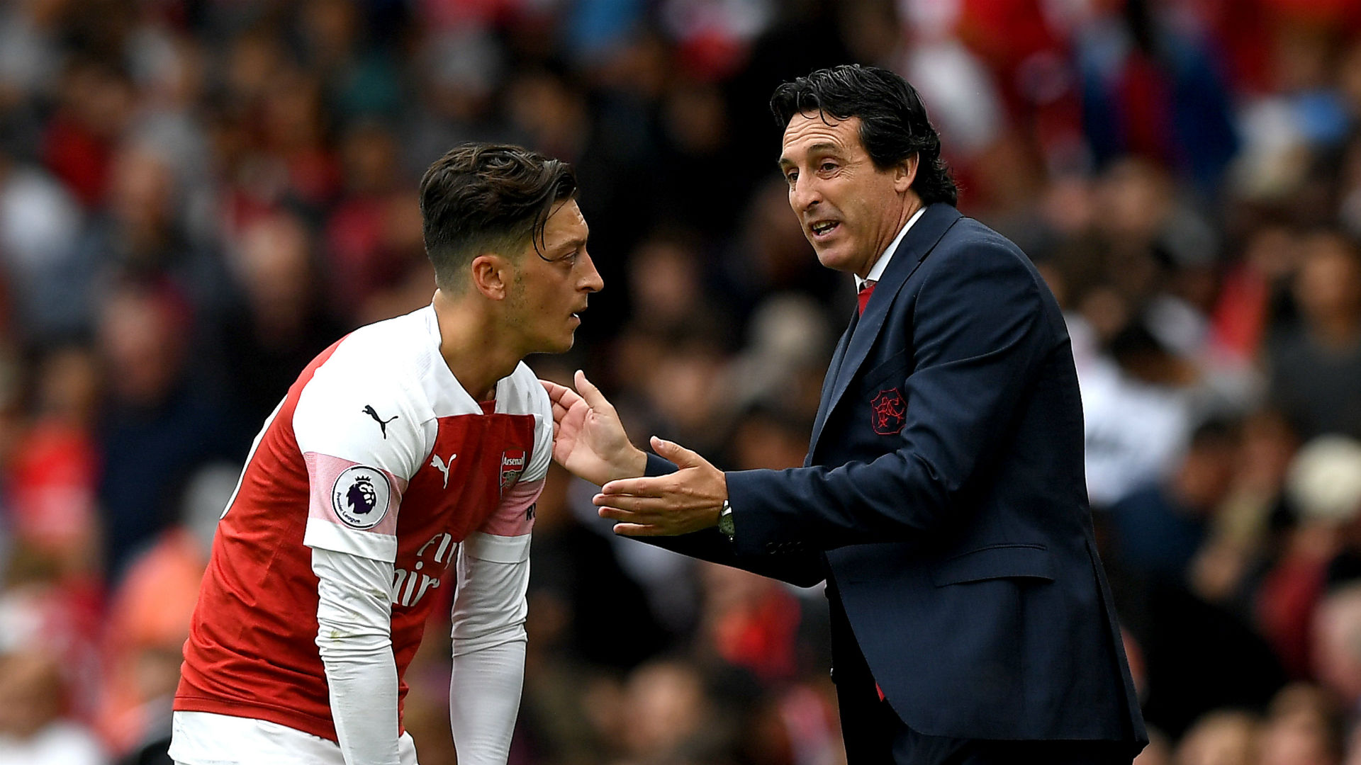 Emery: Ozil lacked qualities for aggressive pressure