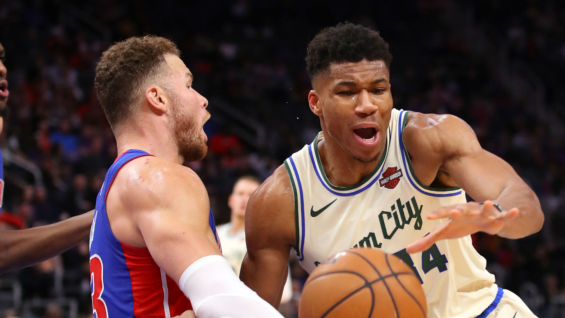 We can fight - Antetokounmpo on fiery Griffin clash as Bucks down Pistons