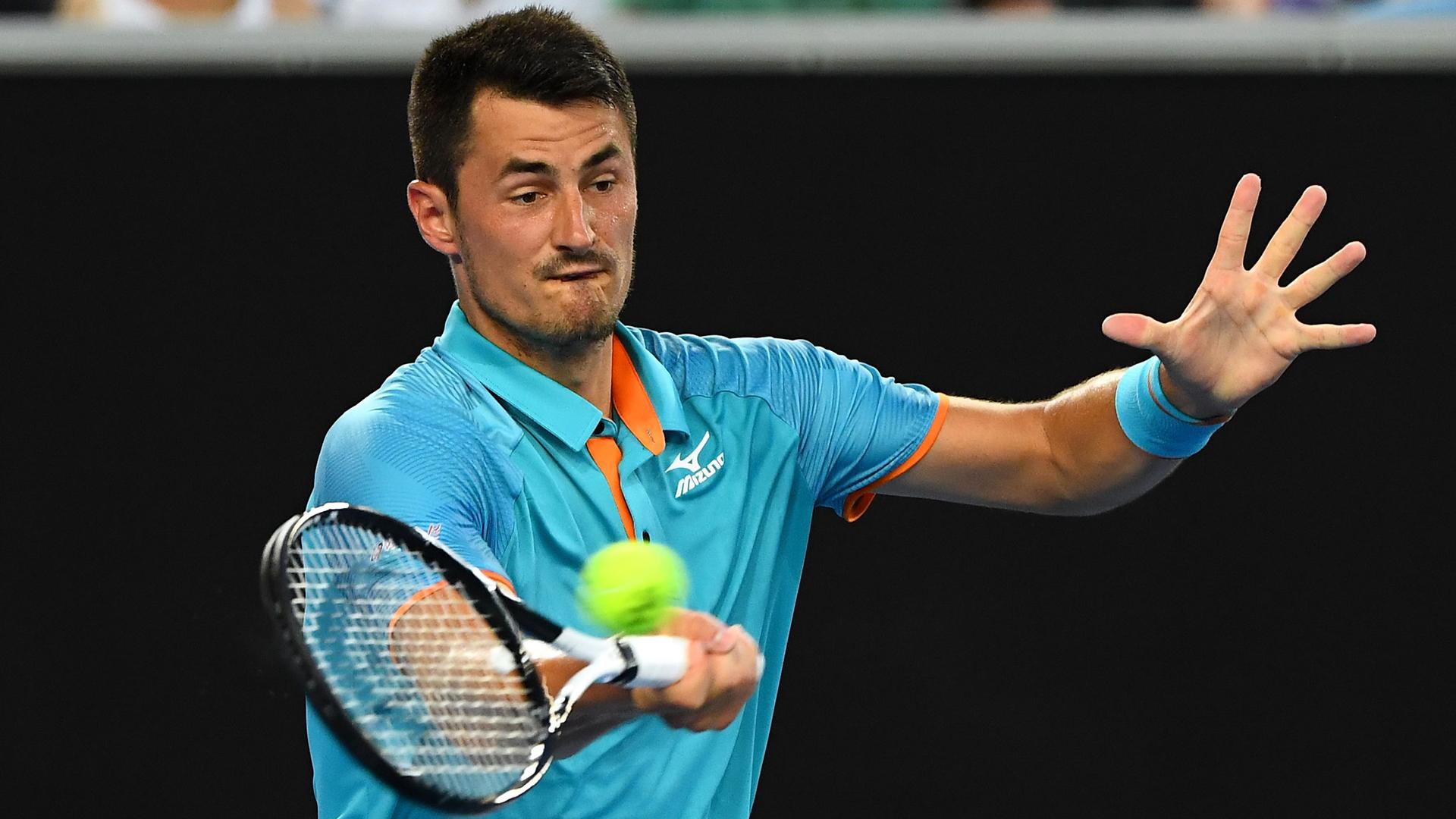 Tomic Sets Up Isner Clash In New York Tennis News Stadium Astro