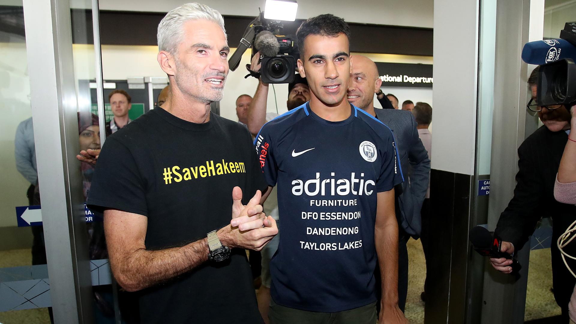 Hakeem al-Araibi arrives back in Australia