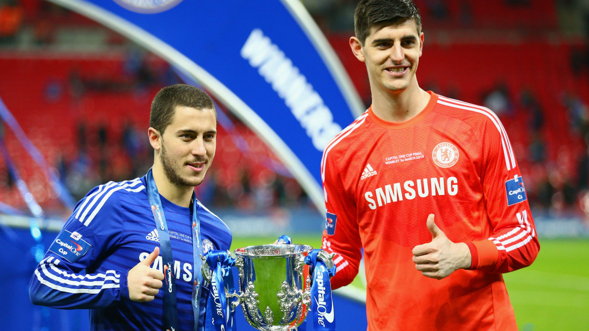 Courtois would relish linking up with Hazard at Madrid
