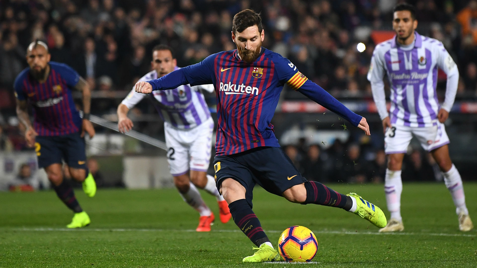 Barcelona 1 Real Valladolid 0: Hit and miss as Messi gets job done