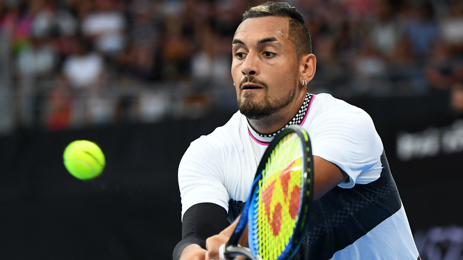 Kyrgios edges 'good mate' Millman at Delray Beach Open