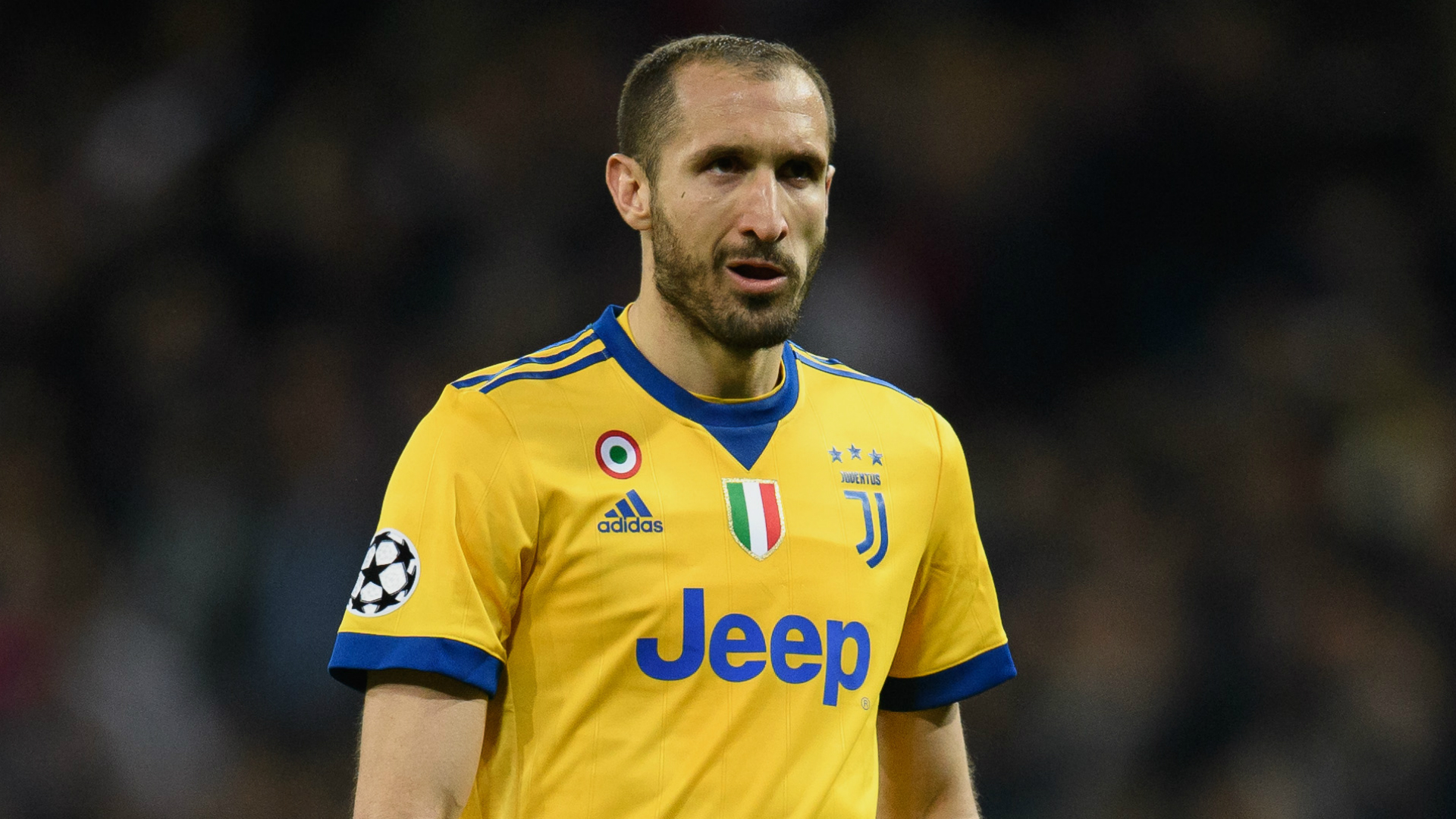 Juventus defender Chiellini set for two weeks out