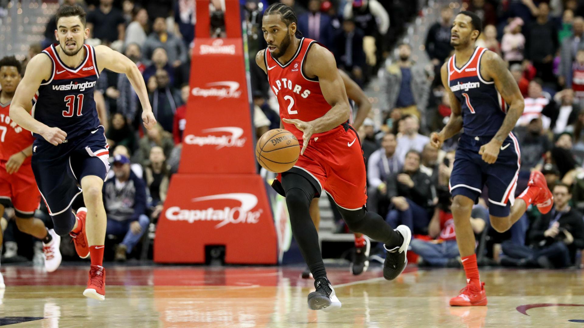 Leonard scores 41 as Raptors top Wizards in double OT,  Warriors win