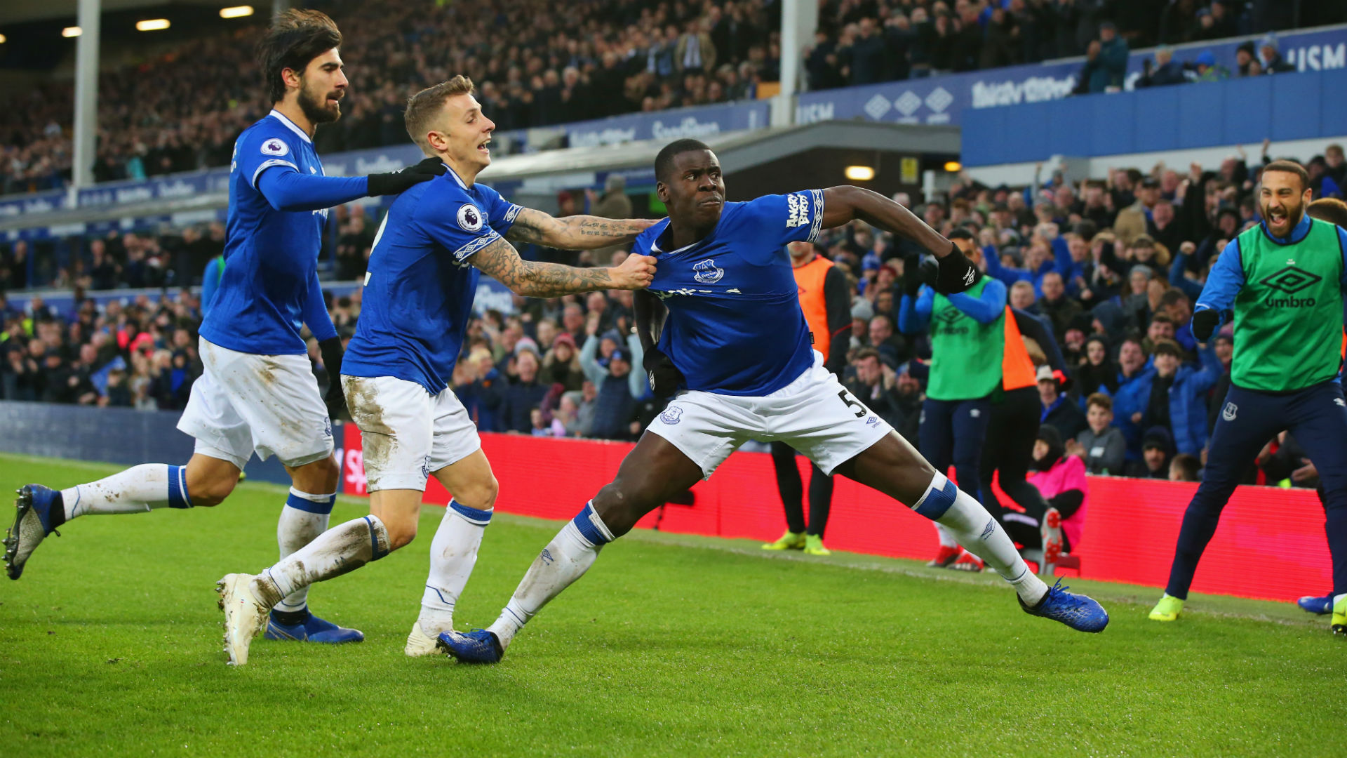 Everton 2 Bournemouth 0: Zouma and Calvert-Lewin send Toffees into top half