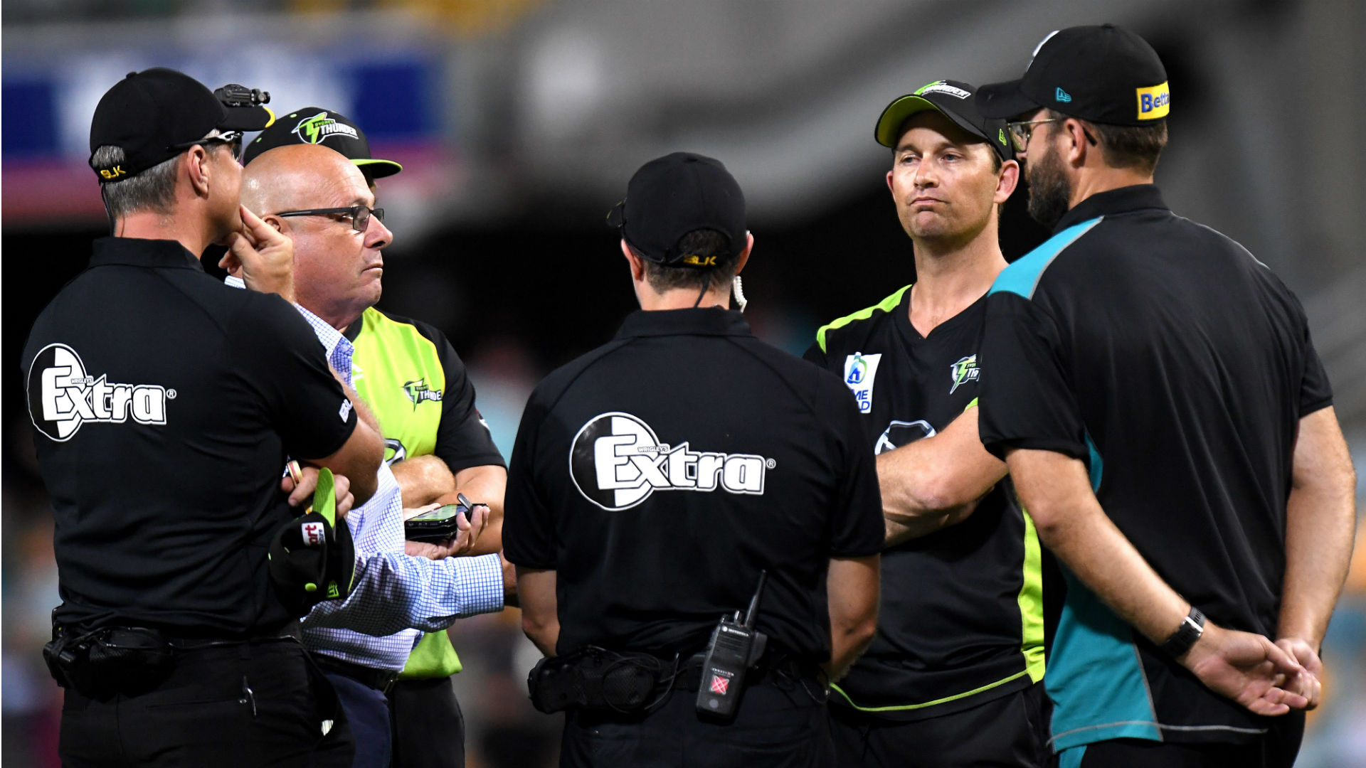 Watson lights up Gabba before power cut forces abandonment