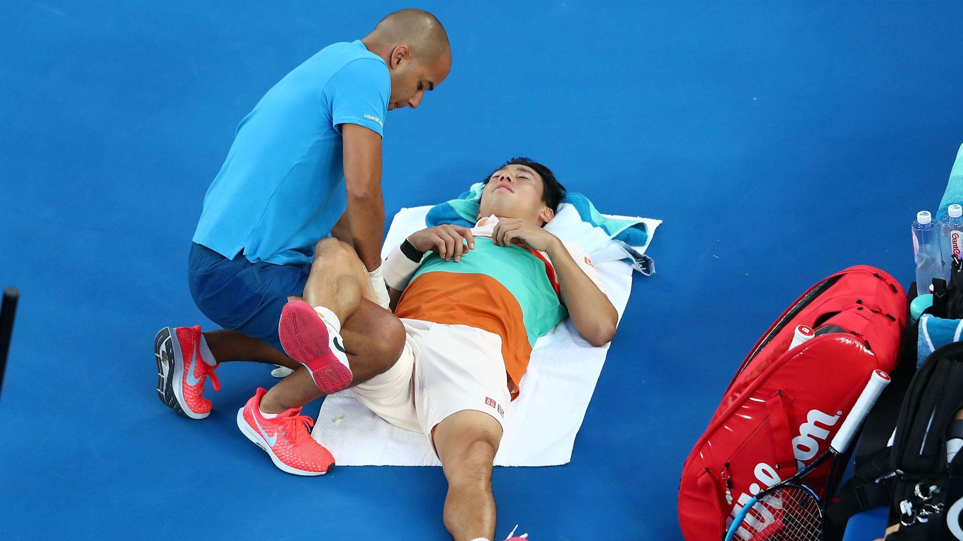 Nishikori: I couldn't beat anybody on one leg