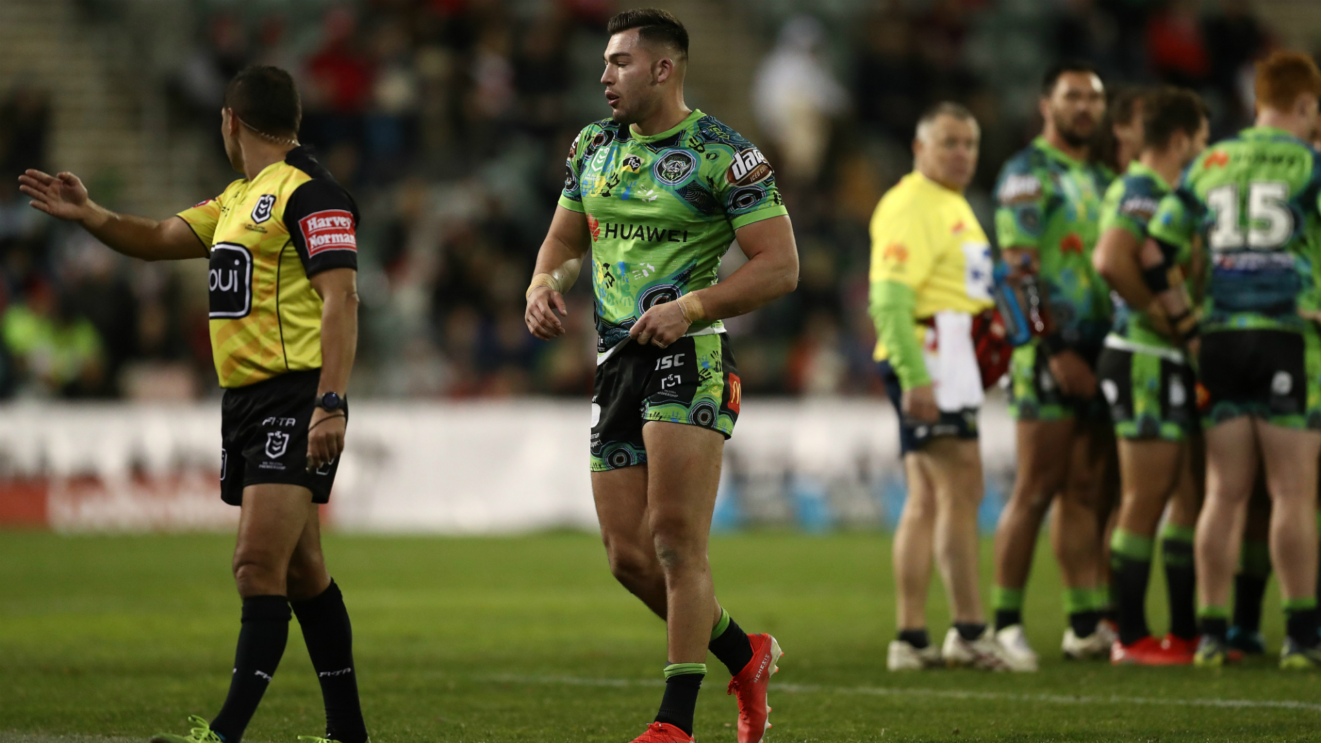 Cotric sent off as Croker sets Canberra try record, Roosters slip up