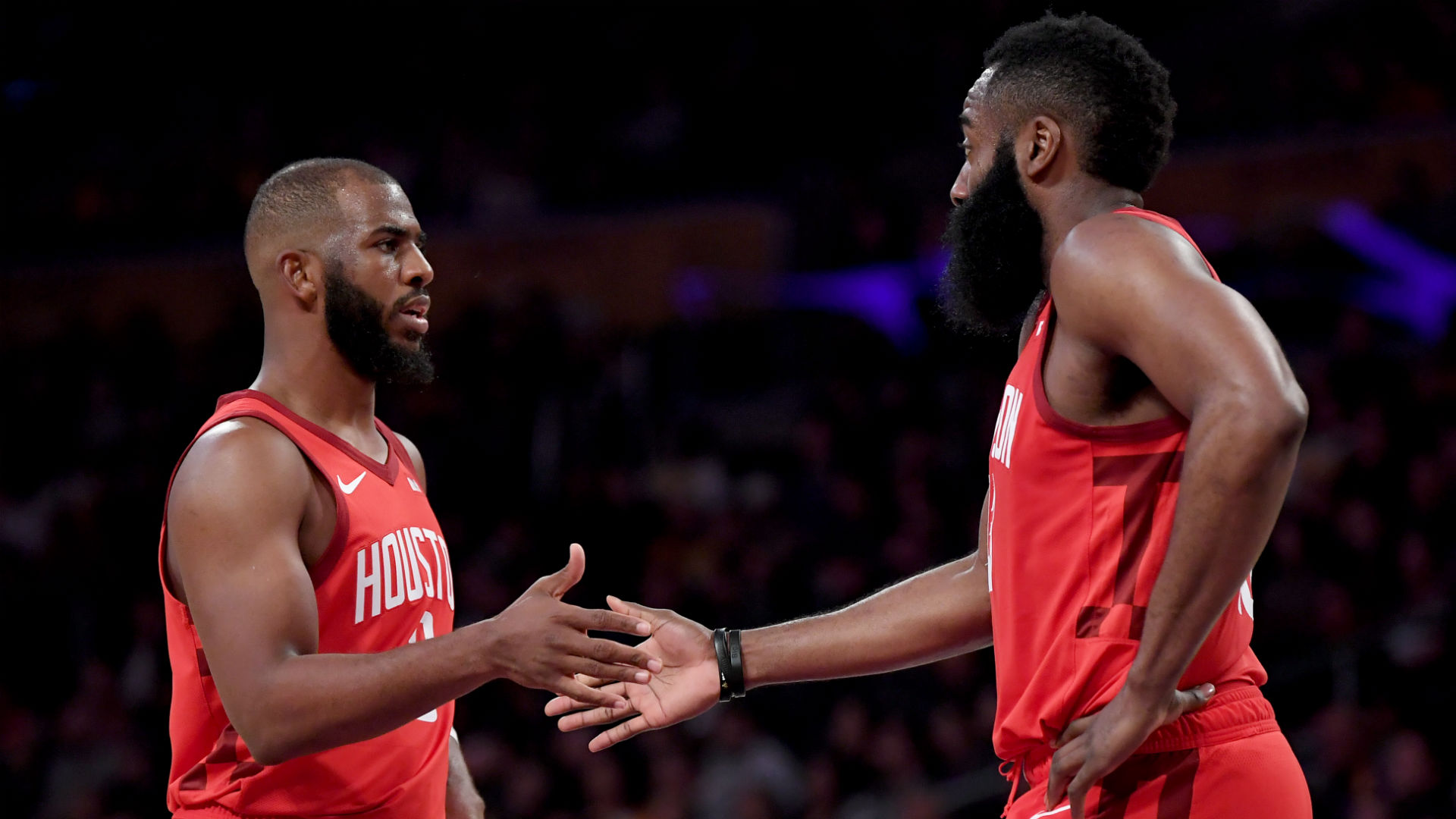 Rockets' James Harden on reported feud with Chris Paul: 'It was a lot of false talk'