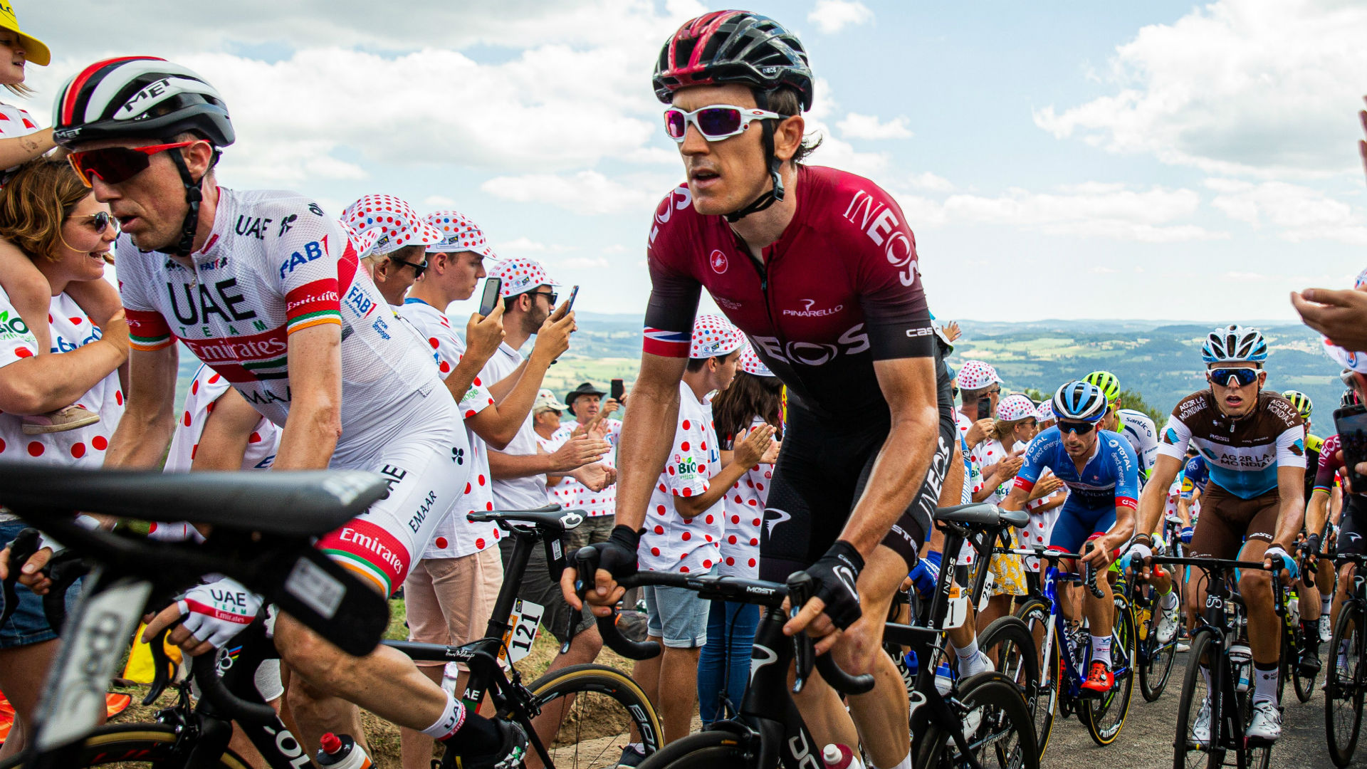 Thomas back in pack after Tour crash